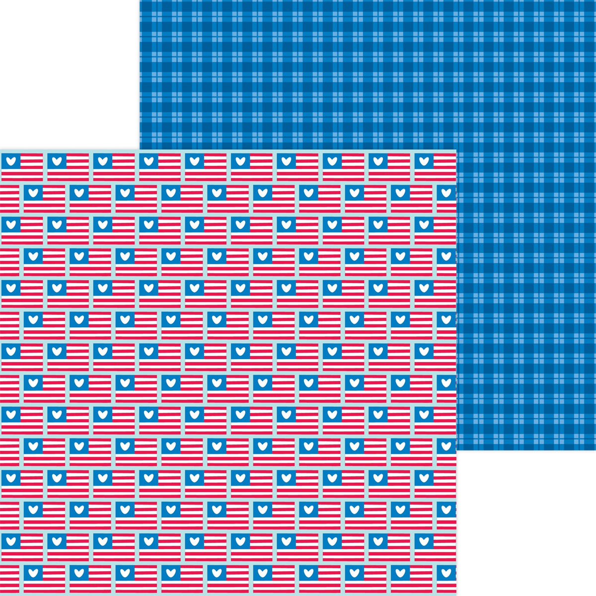 Land That I Love Double-Sided Cardstock 12X12-Red, White & Blue