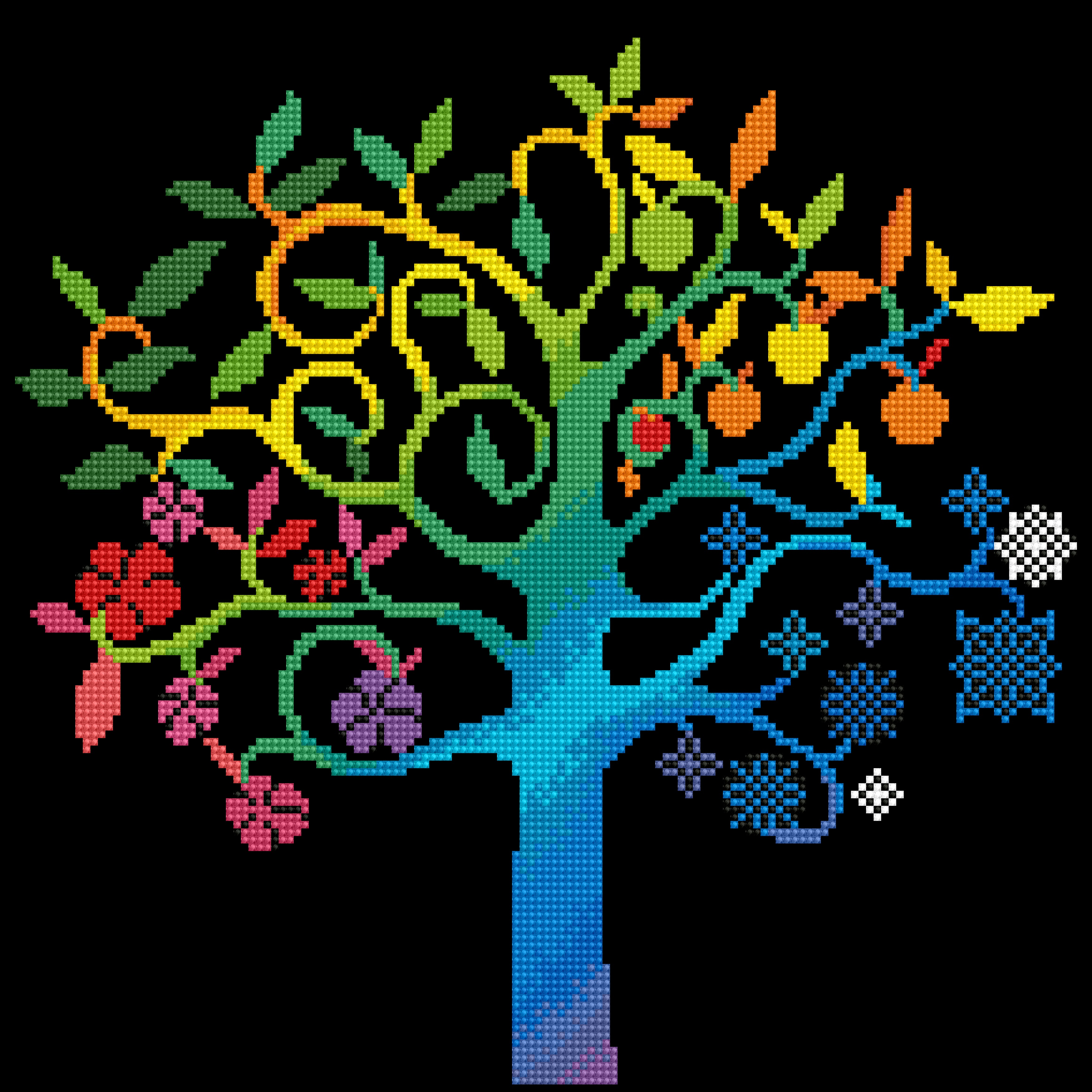 Diamond Dotz Diamond Embroidery Facet Art Kit 16X16-Wishing Tree