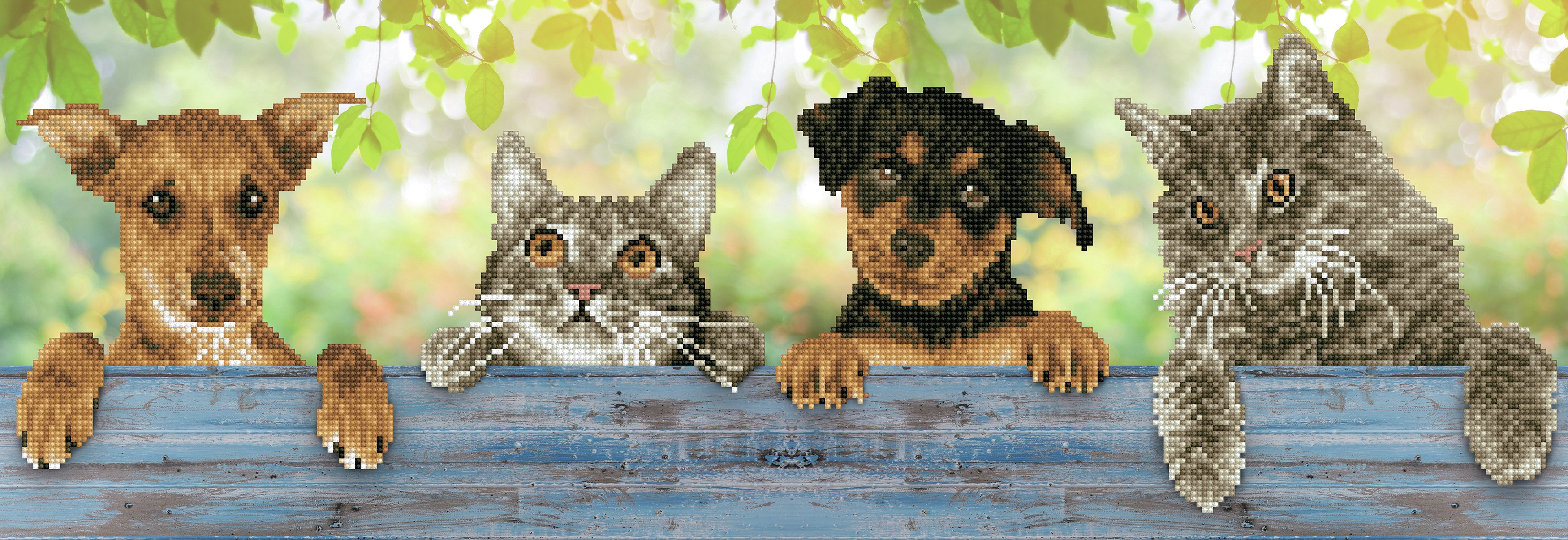 Diamond Dotz Diamond Embroidery Facet Art Kit 31X11-Hang In There