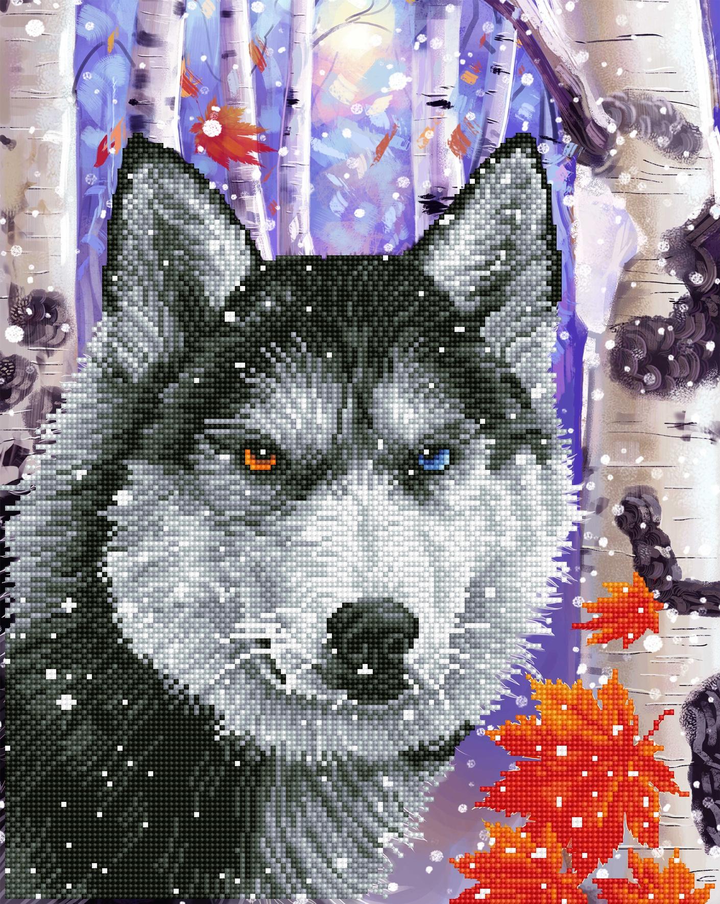 Diamond Dotz Diamond Embroidery Facet Art Kit 15X19-Forest Wolf