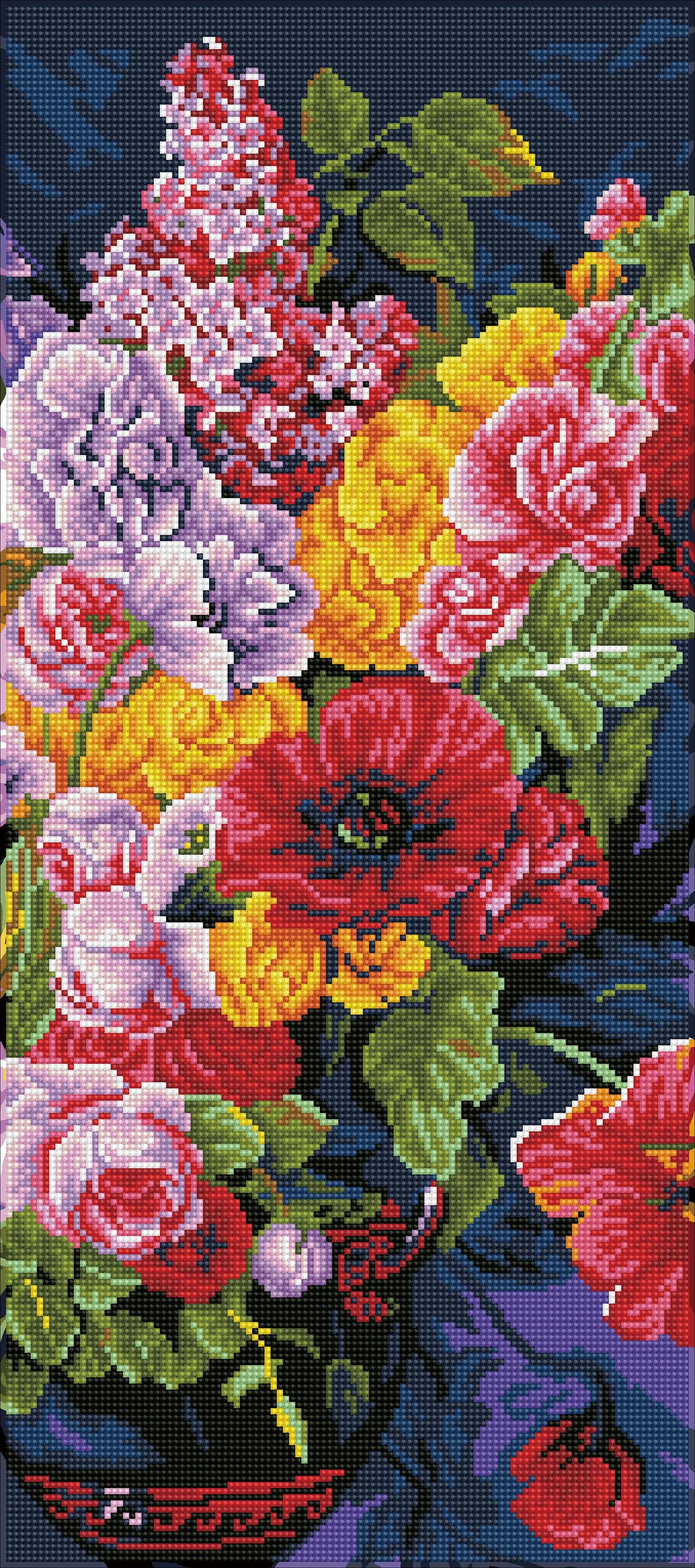 Diamond Dotz Diamond Embroidery Facet Art Kit 12X28-Romantic Bouquet