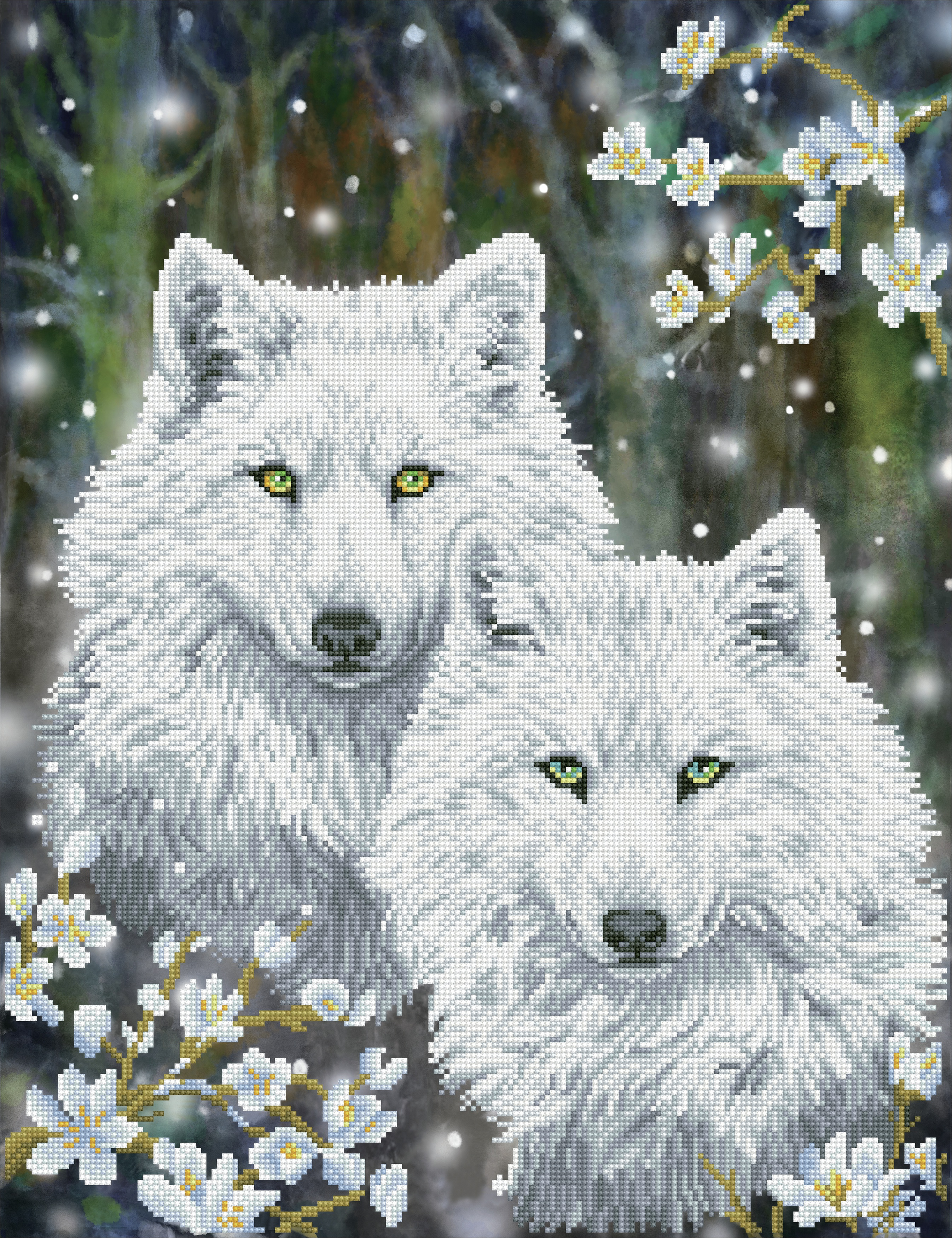 Diamond Dotz Diamond Embroidery Facet Art Kit 20X25-Winter Wolves