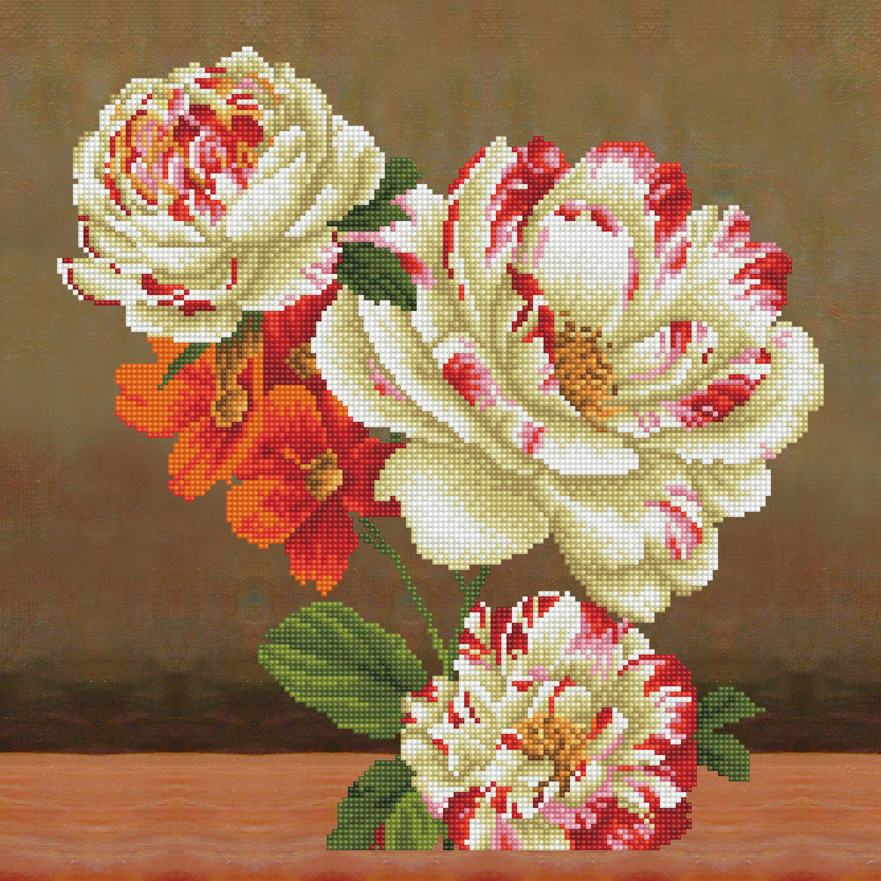 Diamond Dotz Diamond Embroidery Pillow Facet Art Kit-Camellia & Lily Bouquet