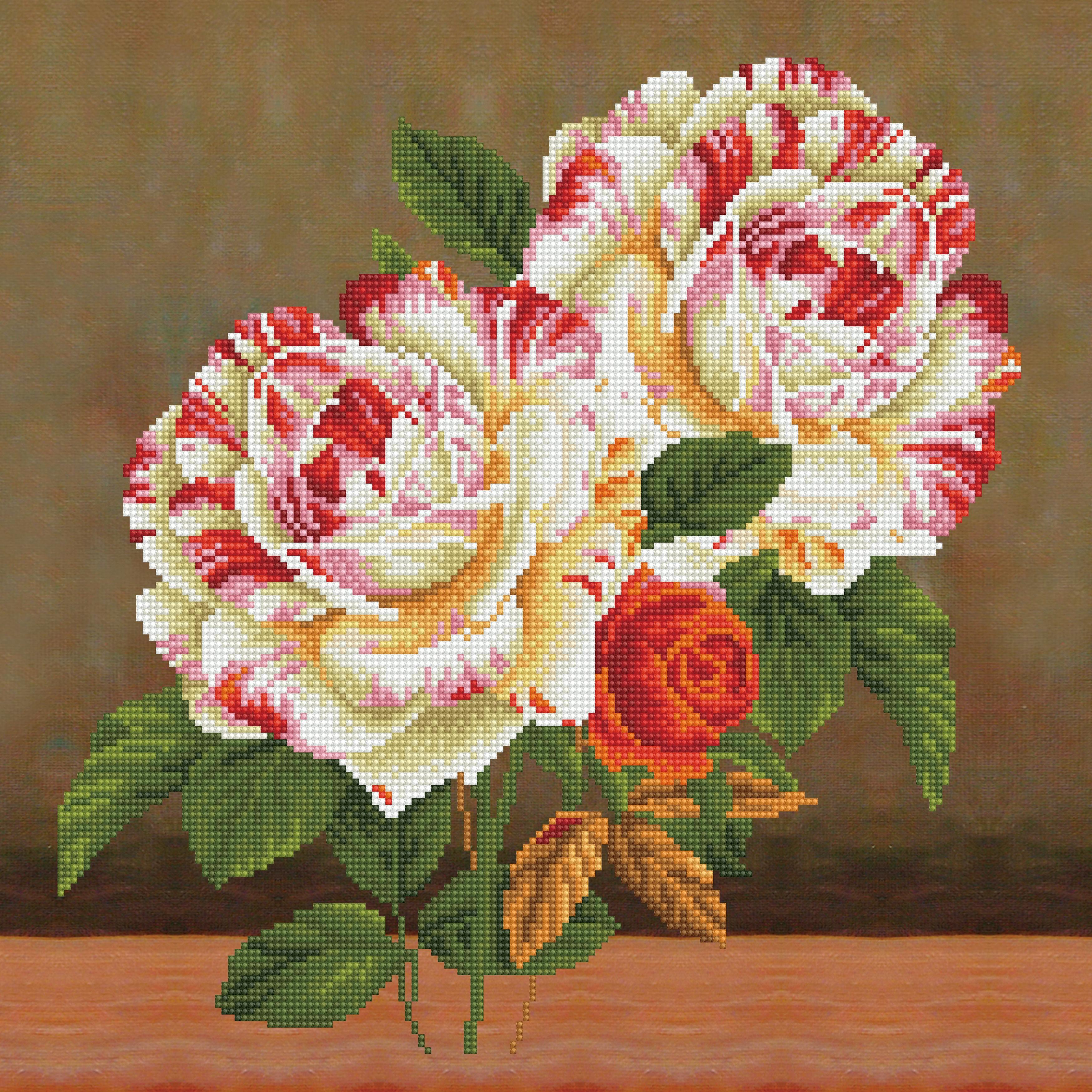 Diamond Dotz Diamond Embroidery Pillow Facet Art Kit-Camellia & Rose Bouquet