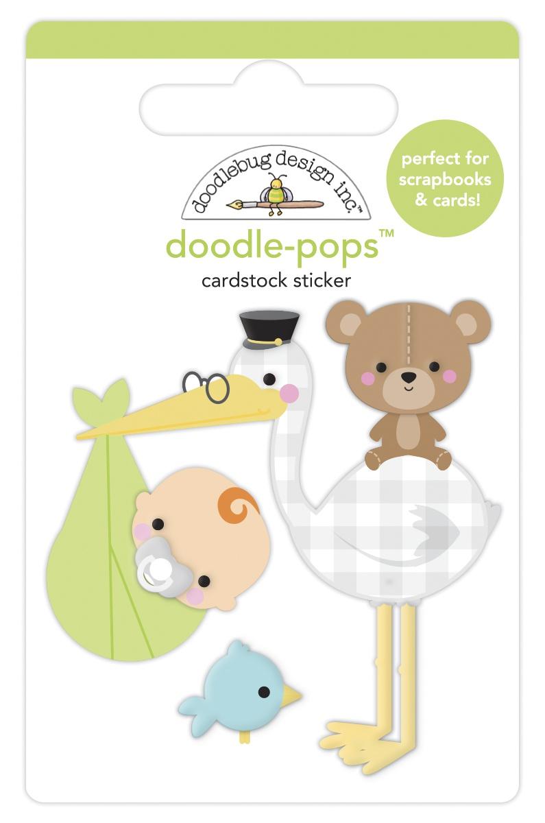 Doodlebug Doodle-Pops 3D Stickers-Special Delivery