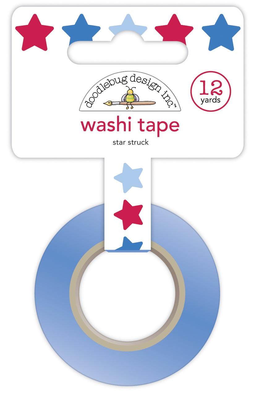 Doodlebug Washi Tape 15mmX12yd-Star Struck, Land That I Love