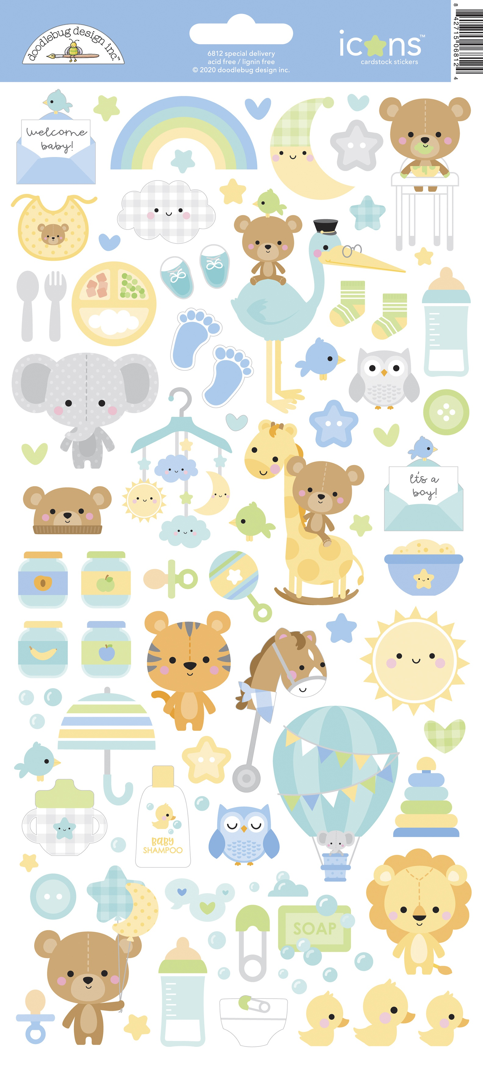 ^Doodlebug - Special Delivery - Icons Cardstock Stickers