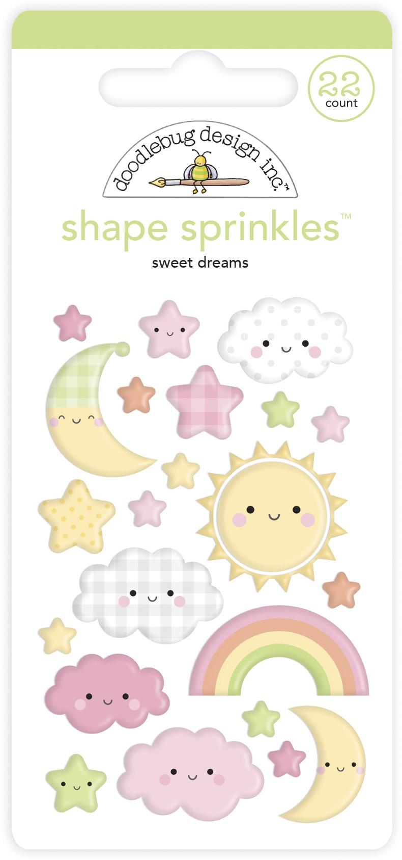 Doodlebug Sprinkles Adhesive Enamel Shapes-Sweet Dreams Bundle Of Joy
