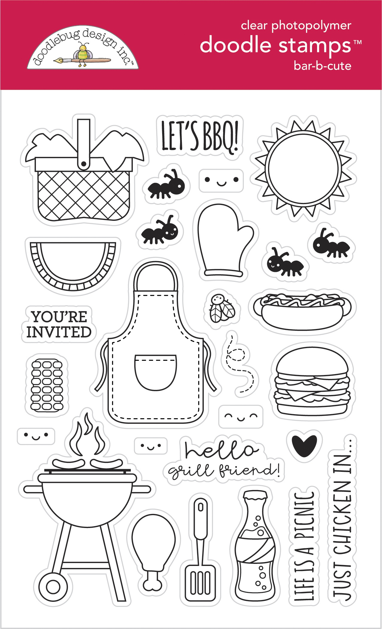 Doodlebug Stamps - Bar-B-Cute
