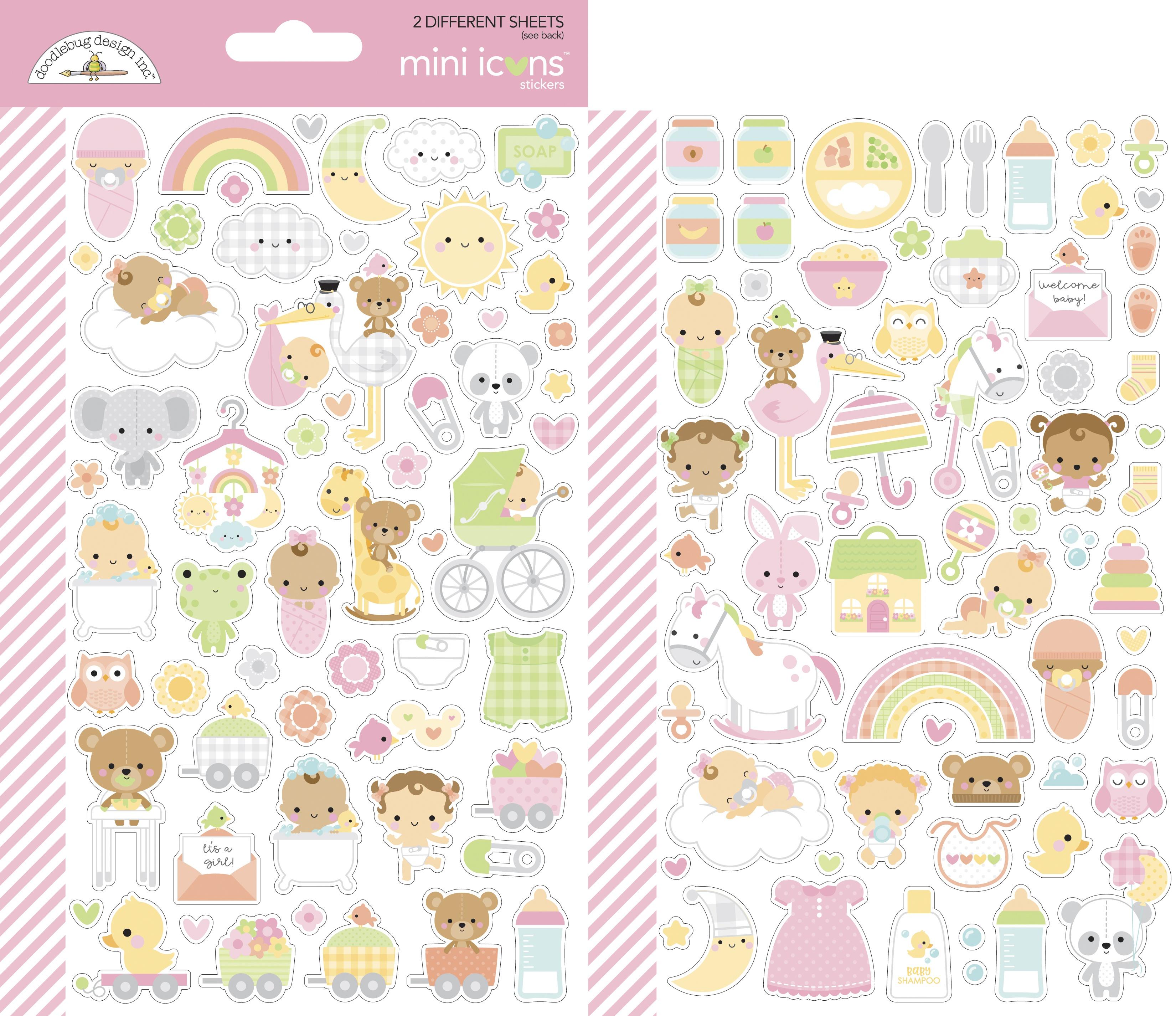 Doodlebug Mini Cardstock Stickers 2/Pkg-Bundle Of Joy Icons