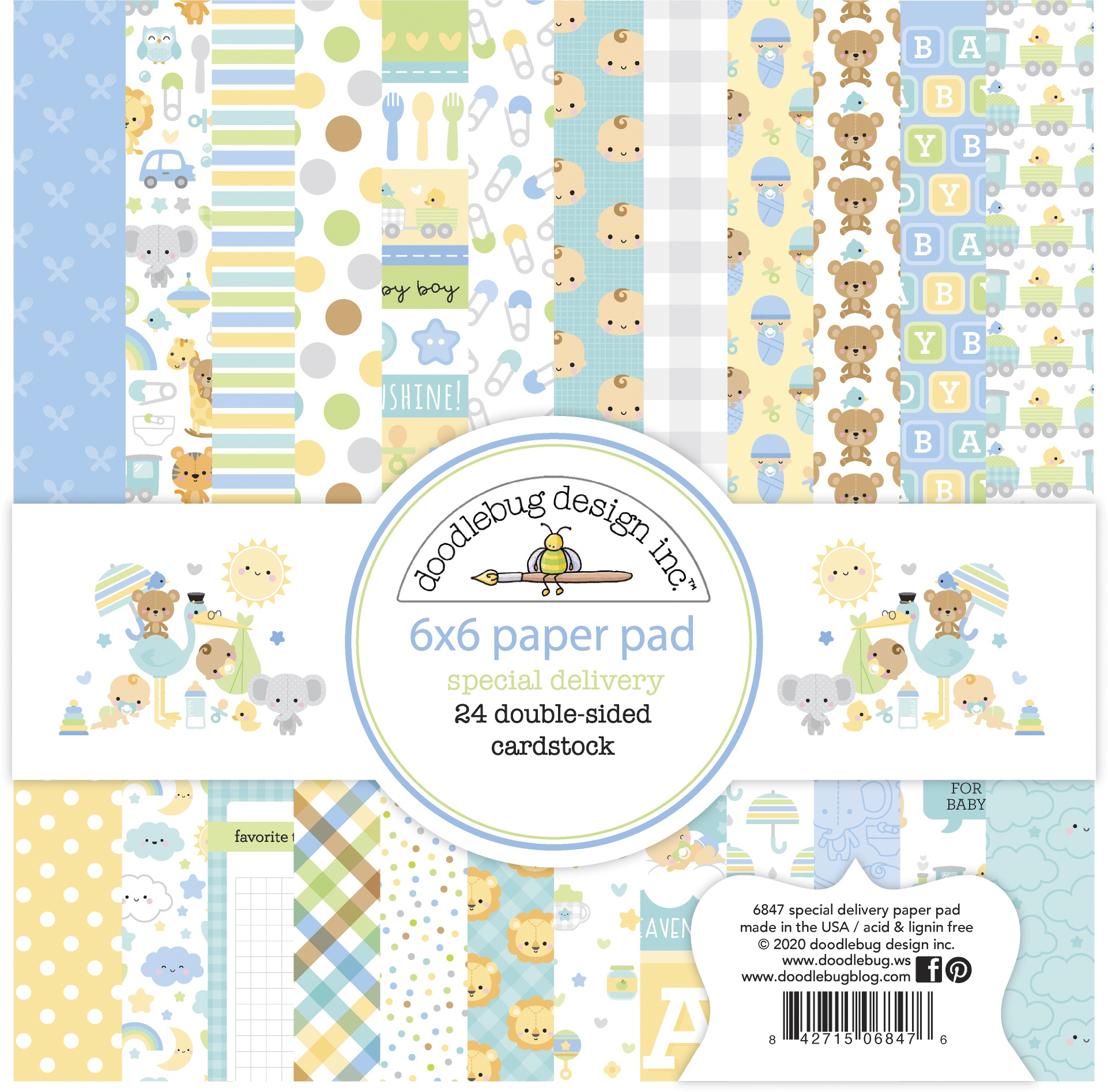 Doodlebug Special Delivery Paper Pad 6x6