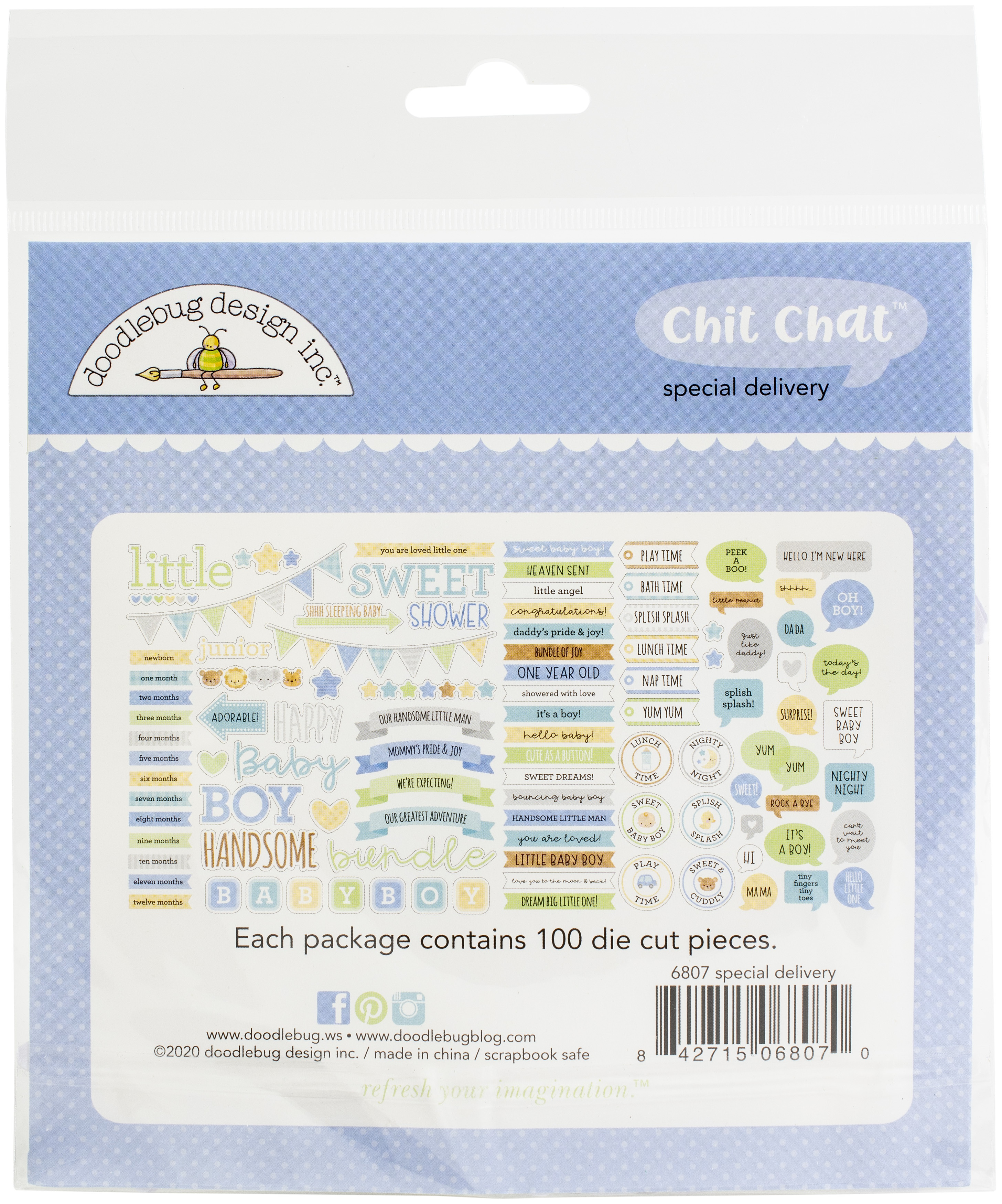 Doodlebug Odds & Ends Chit Chat Die-Cuts-Special Delivery