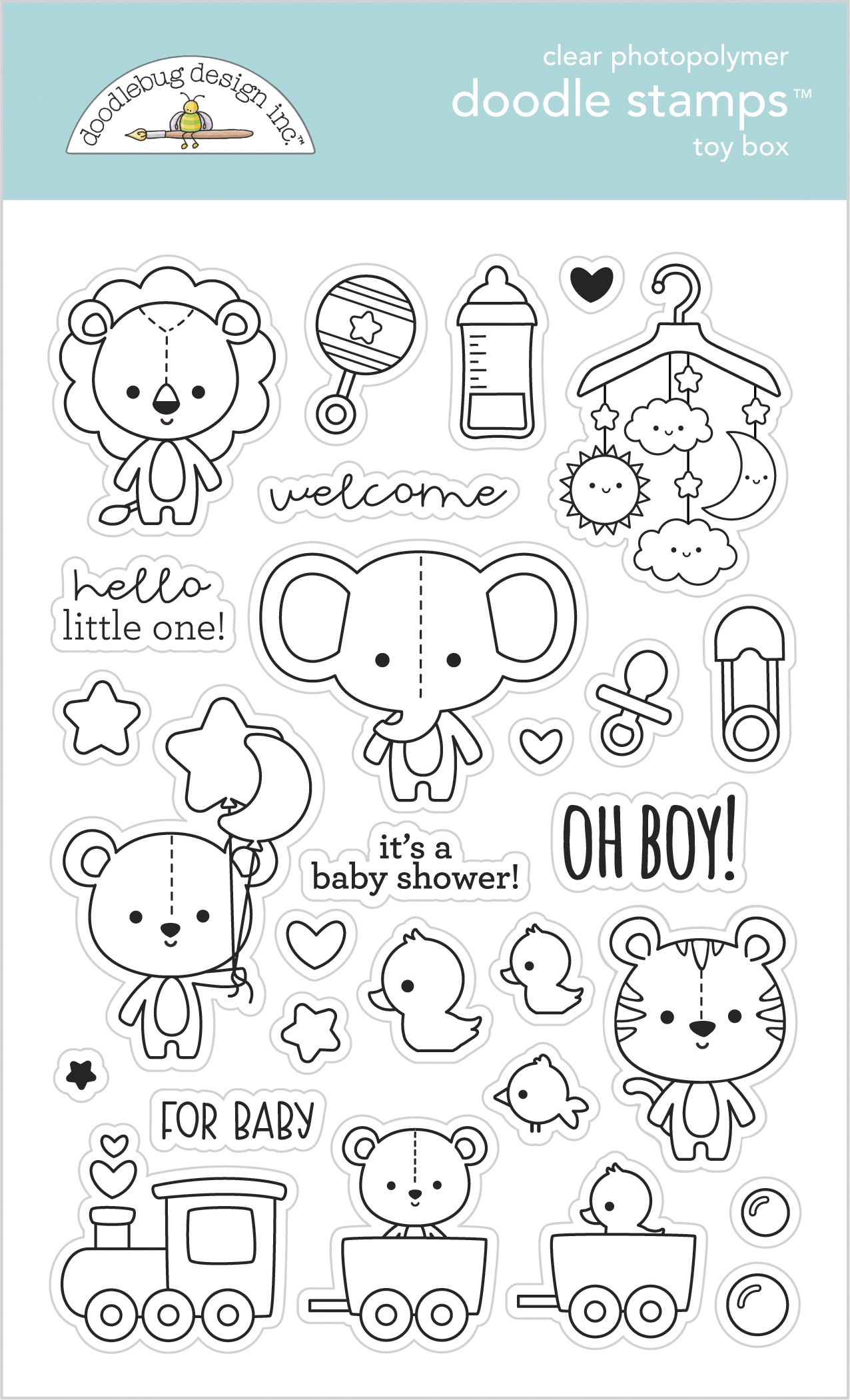 Doodlebug Clear Doodle Stamps-Toy Box, Special Delivery