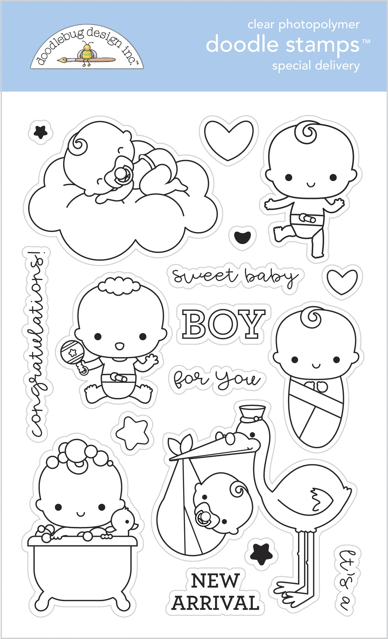 Doodle Stamps Clear Toy Box