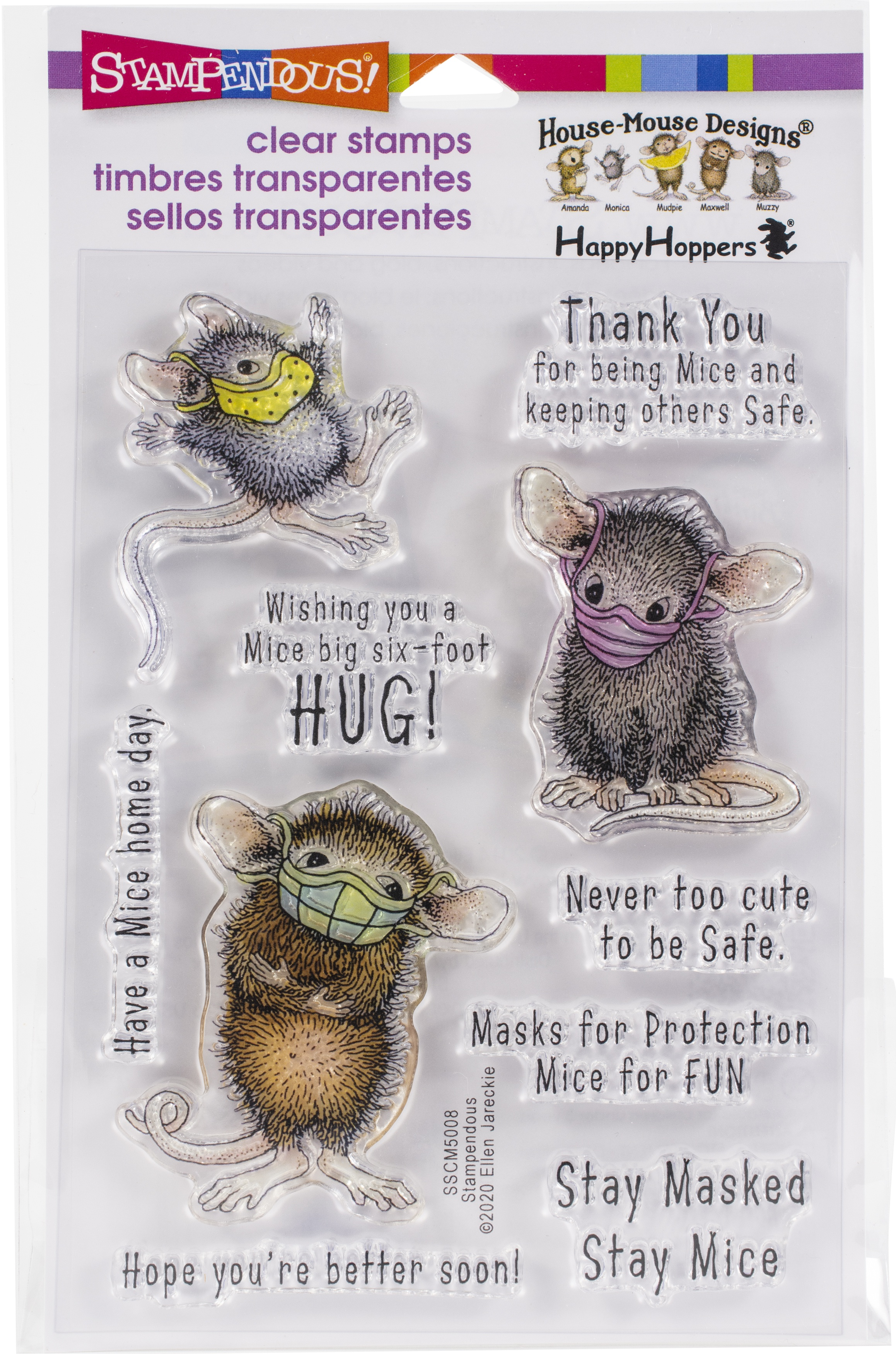 ^Stampendous - House Mouse Clear Stamps - Masked Mice