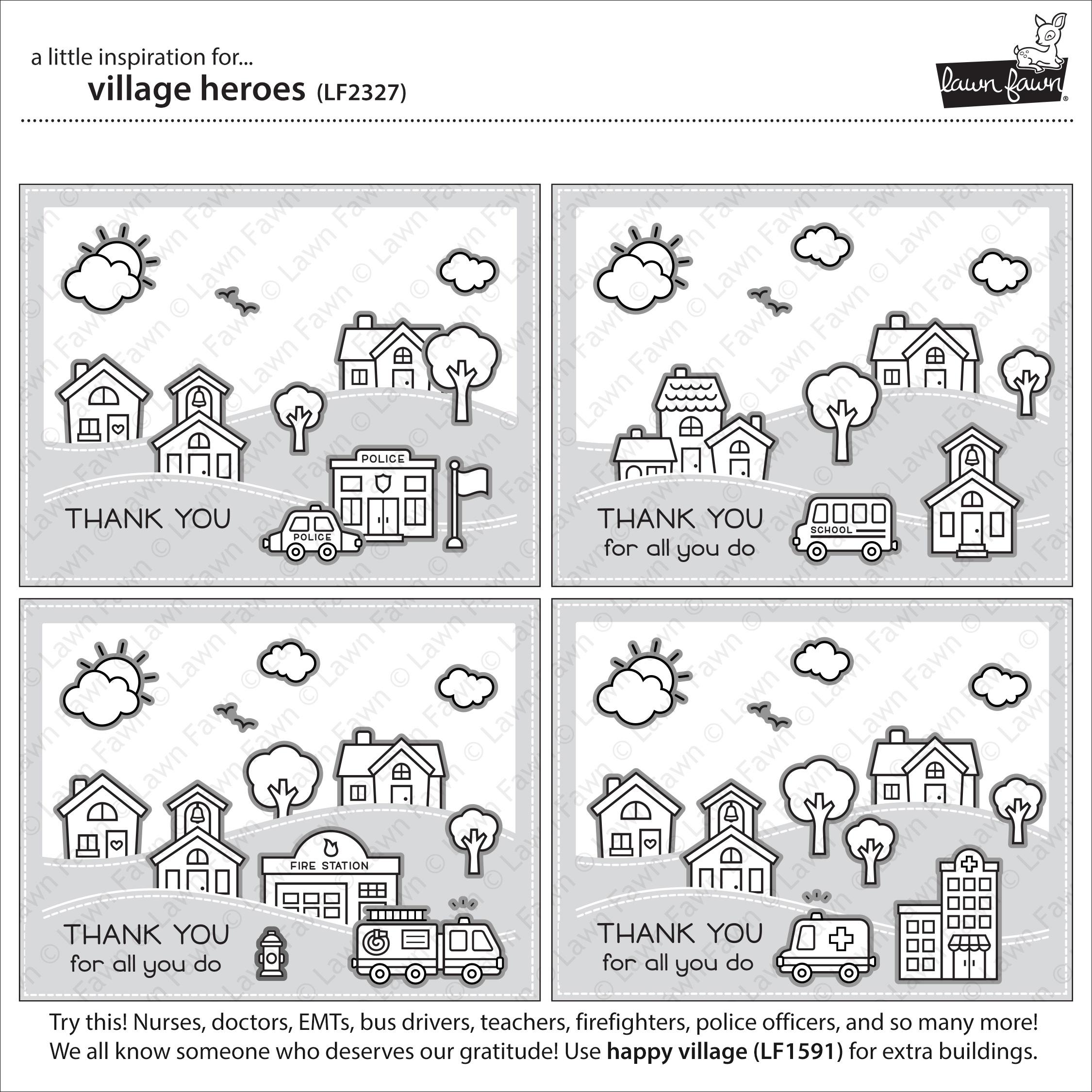 Village Heros Stamp