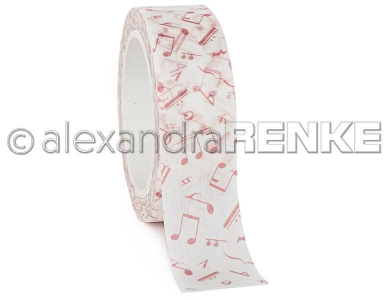 Alexandra Renke Washi Tape 15mmX10m-Pink Clefs, Music