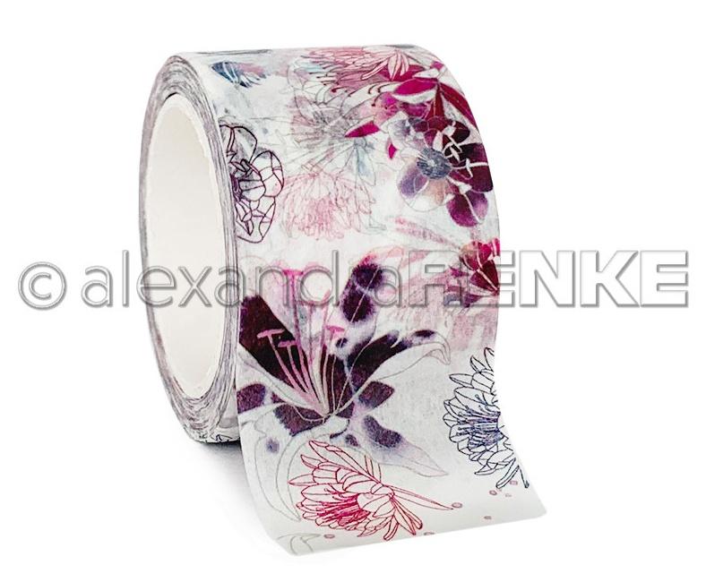 Alexandra Renke Washi Tape 40mmX10m-Flowers All Over, Music
