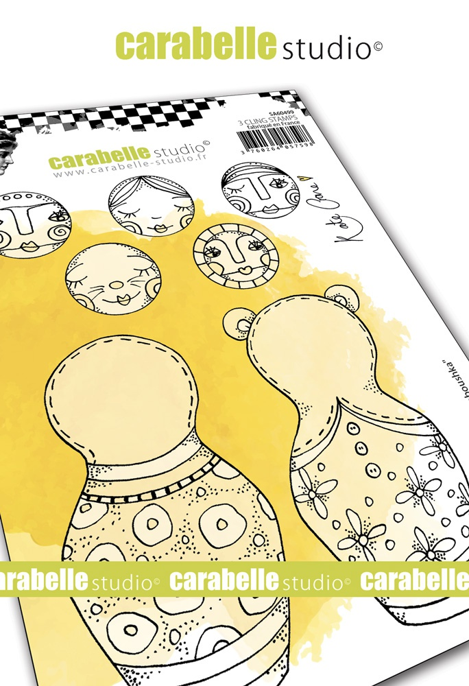 Carabelle Studio Cling Stamp A6 By Kate Crane-Build A Baboushka