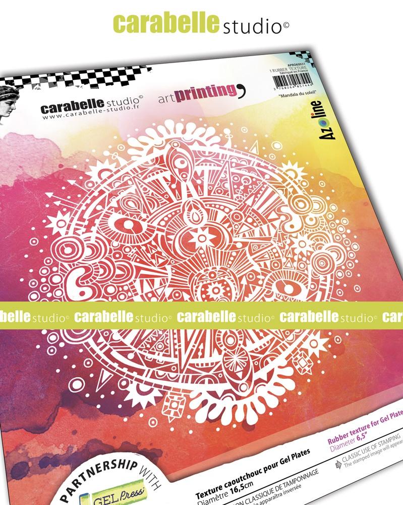 Carabelle Studio Art Printing Round Rubber Texture Plate -Sun Mandala