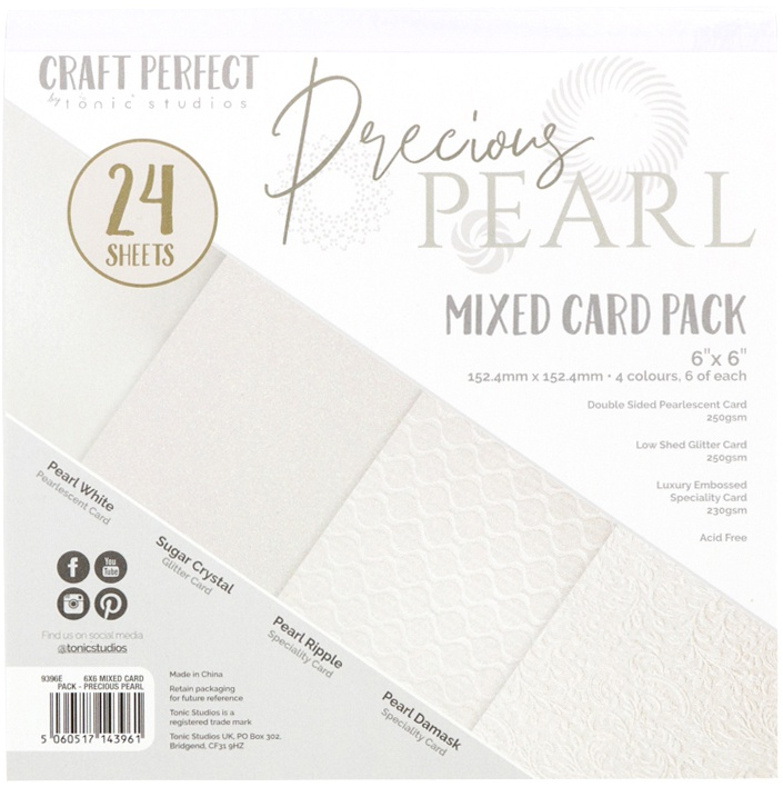 Precious Pearls Mixed Card Pack 6X6 24/Pkg