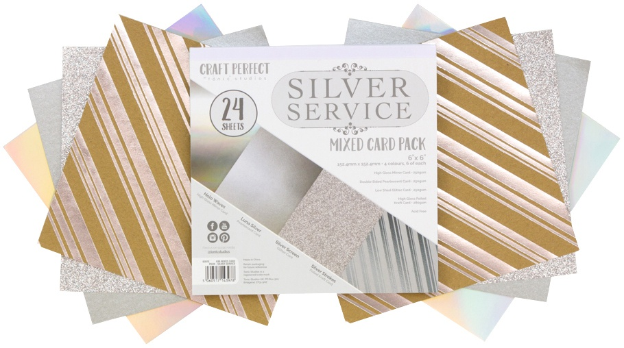 Silver Service Mixed Card Pack 6X6 24/Pkg