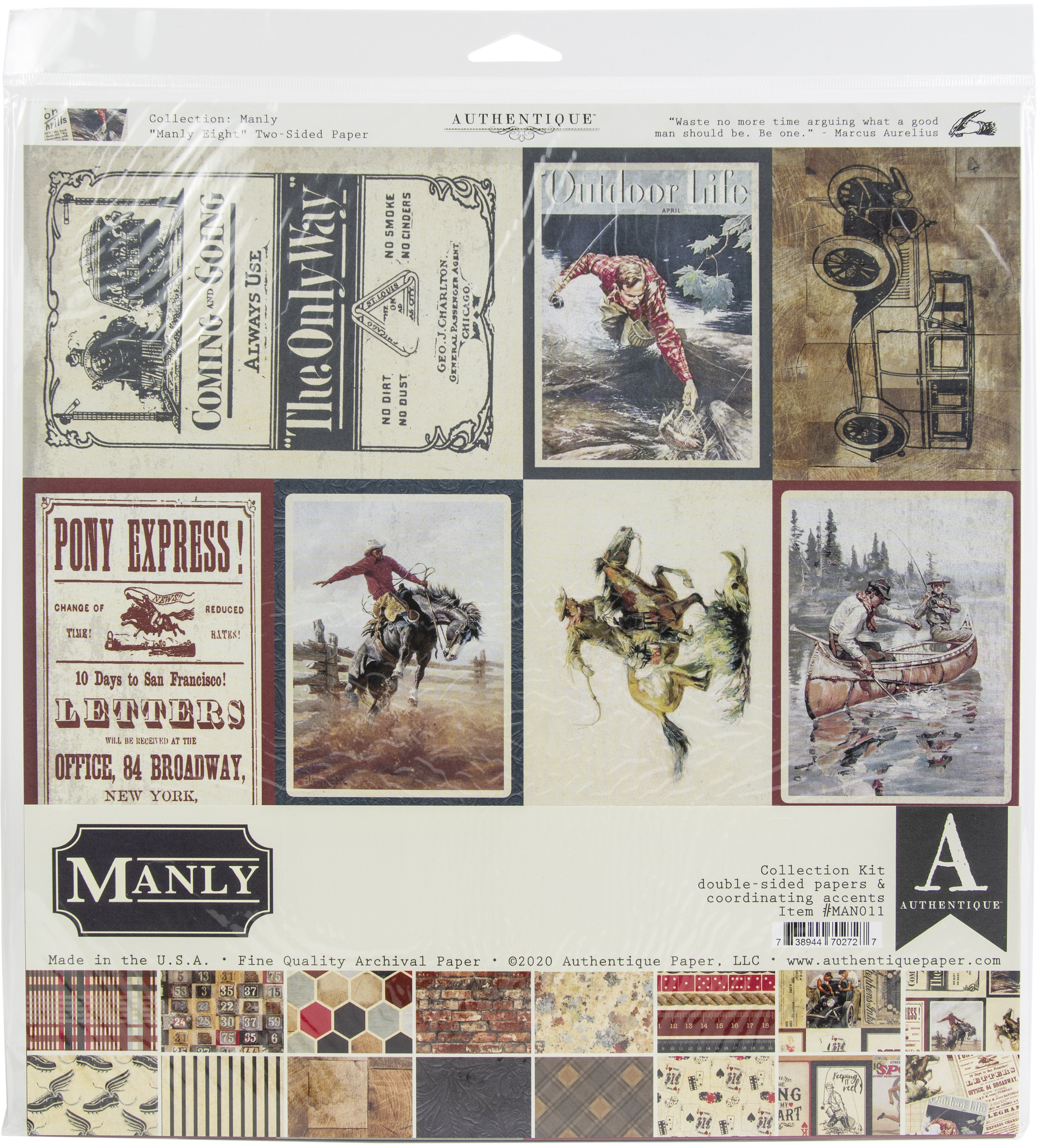 Authentique Collection Kit 12X12-Manly