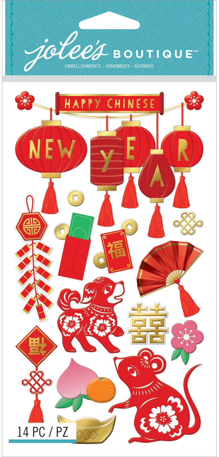 Jolee's Boutique Themed Embellishments 14/Pkg-Chinese New Year