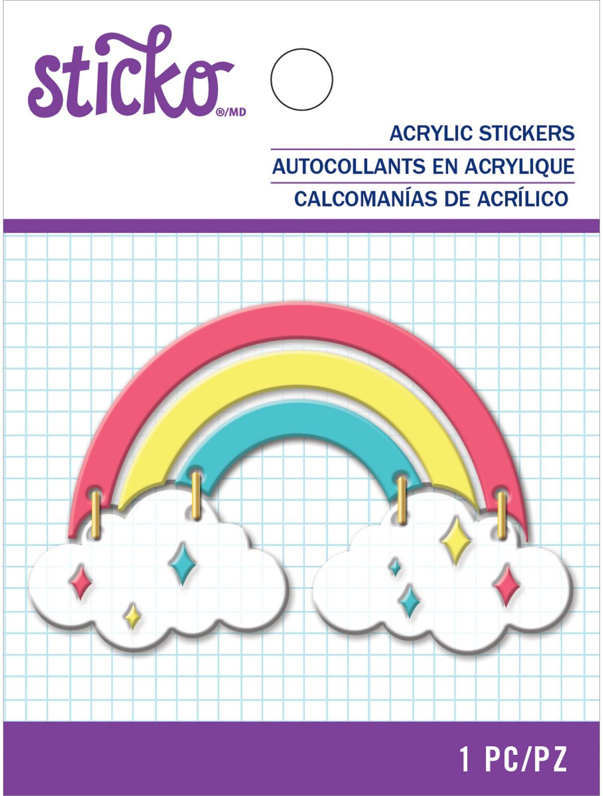 Sticko Acrlic Sticker-Rainbow