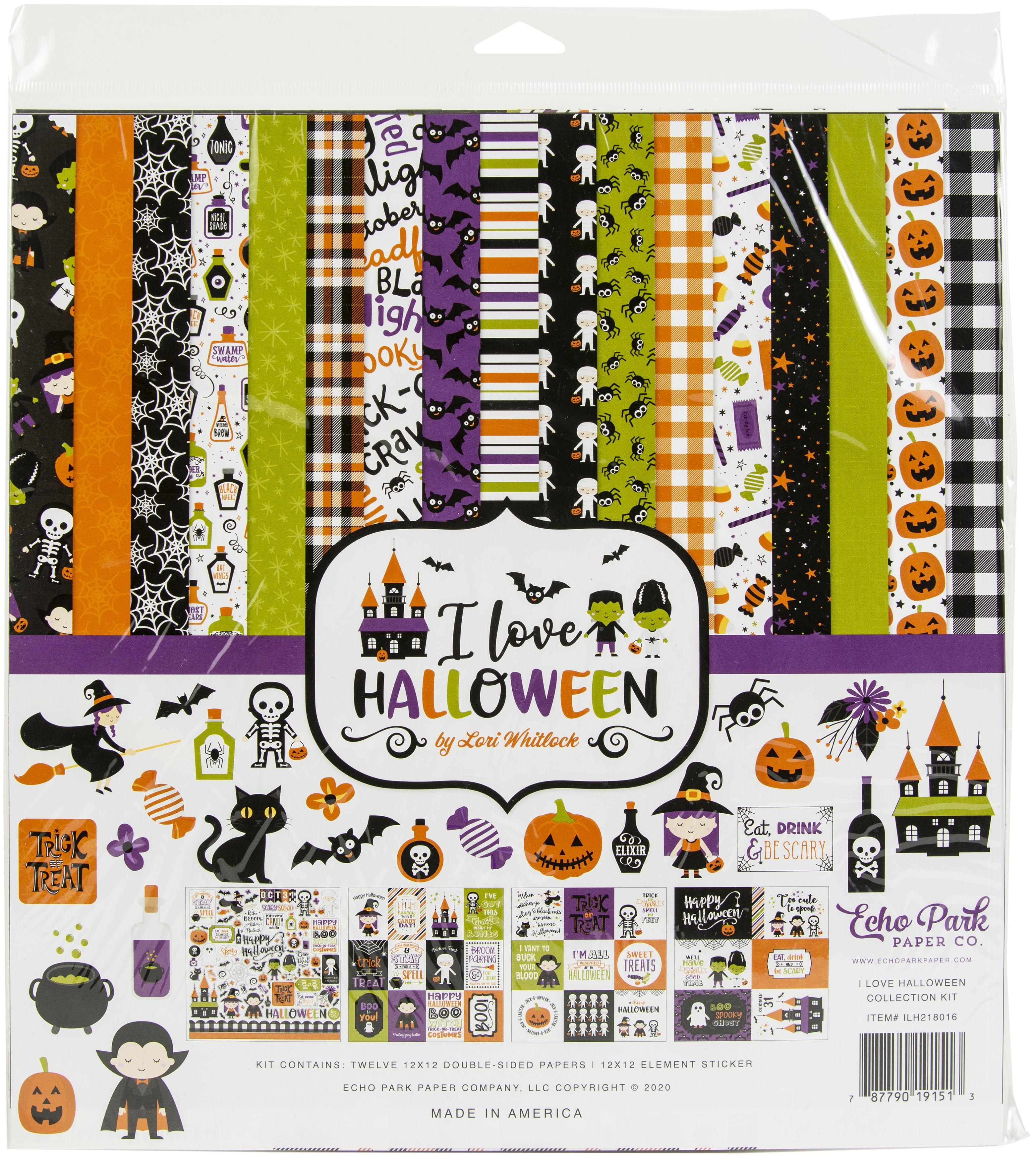 Echo Park Collection Kit 12X12-I Love Halloween