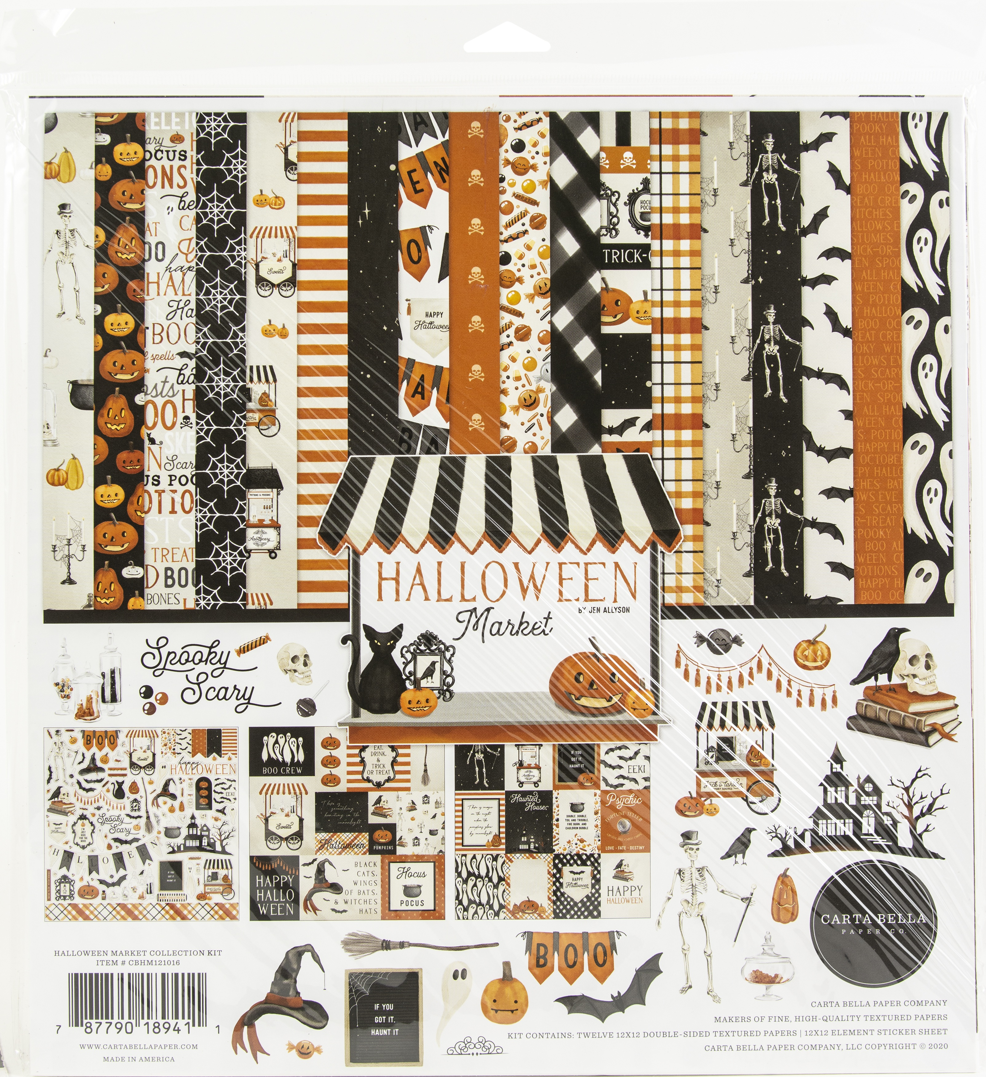 Carta Bella Collection Kit 12X12-Halloween Market