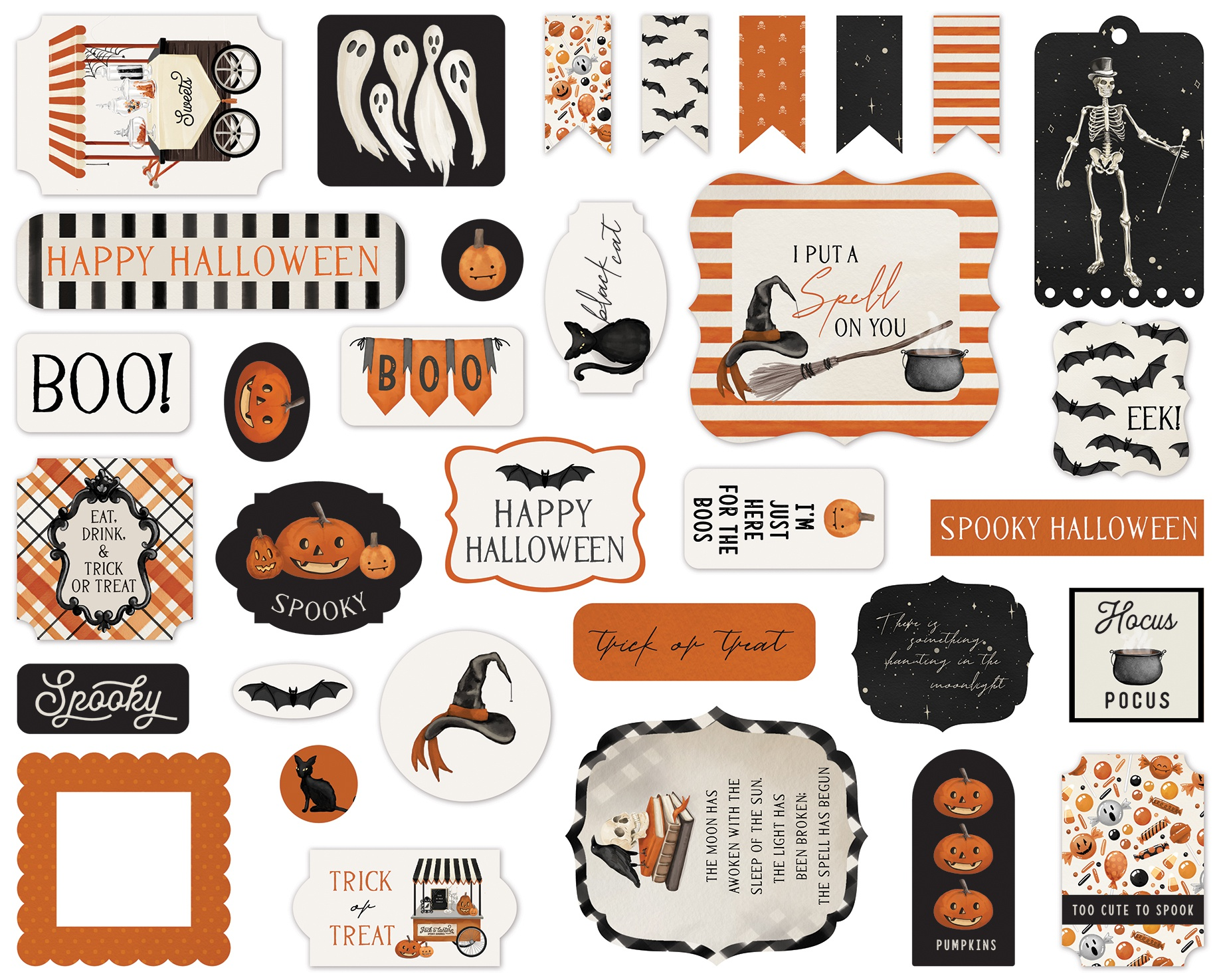 Carta Bella Cardstock Ephemera 33/Pkg-Icons, Halloween Market