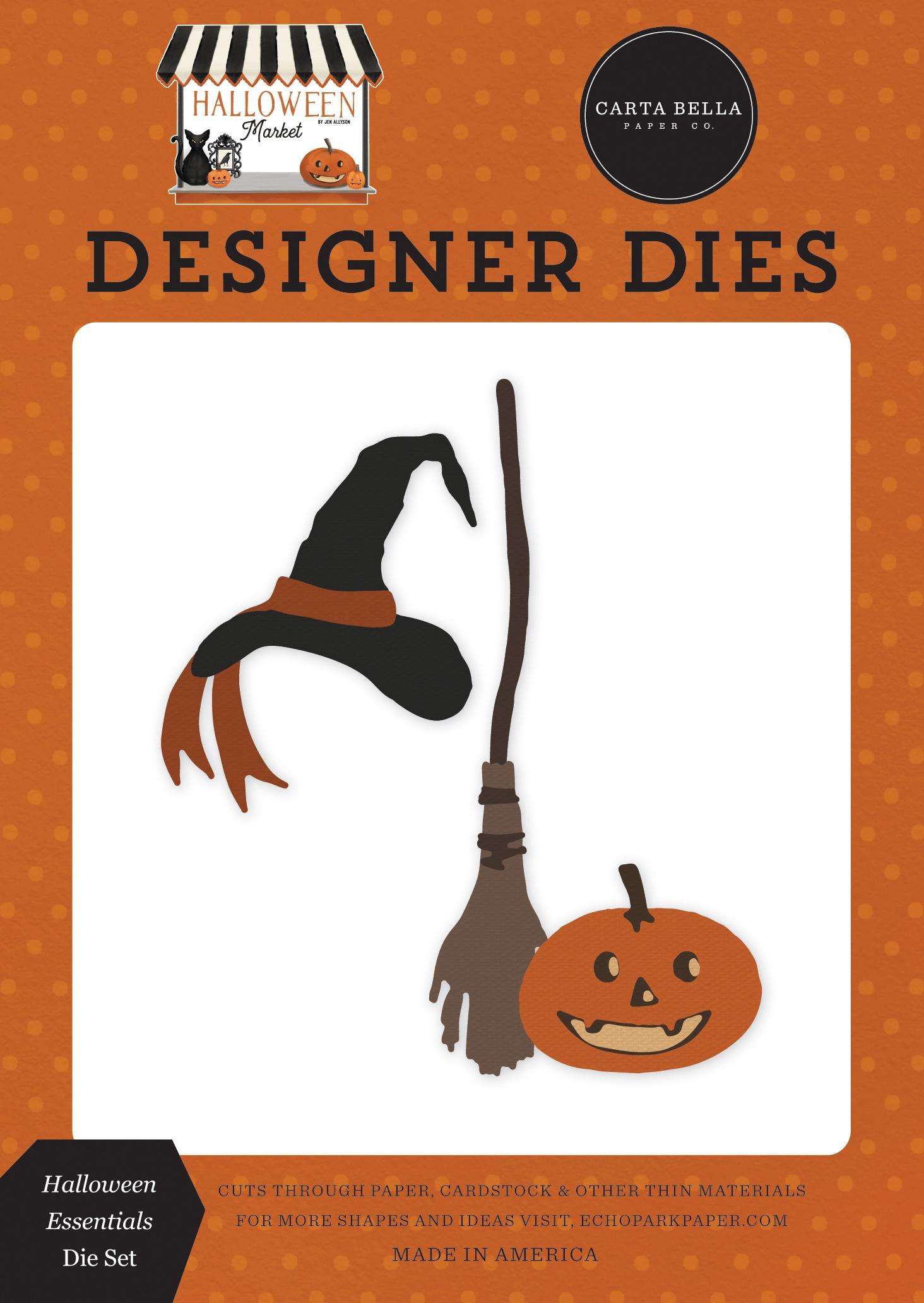 Carte Bella Dies-Halloween Essentials, Halloween Market