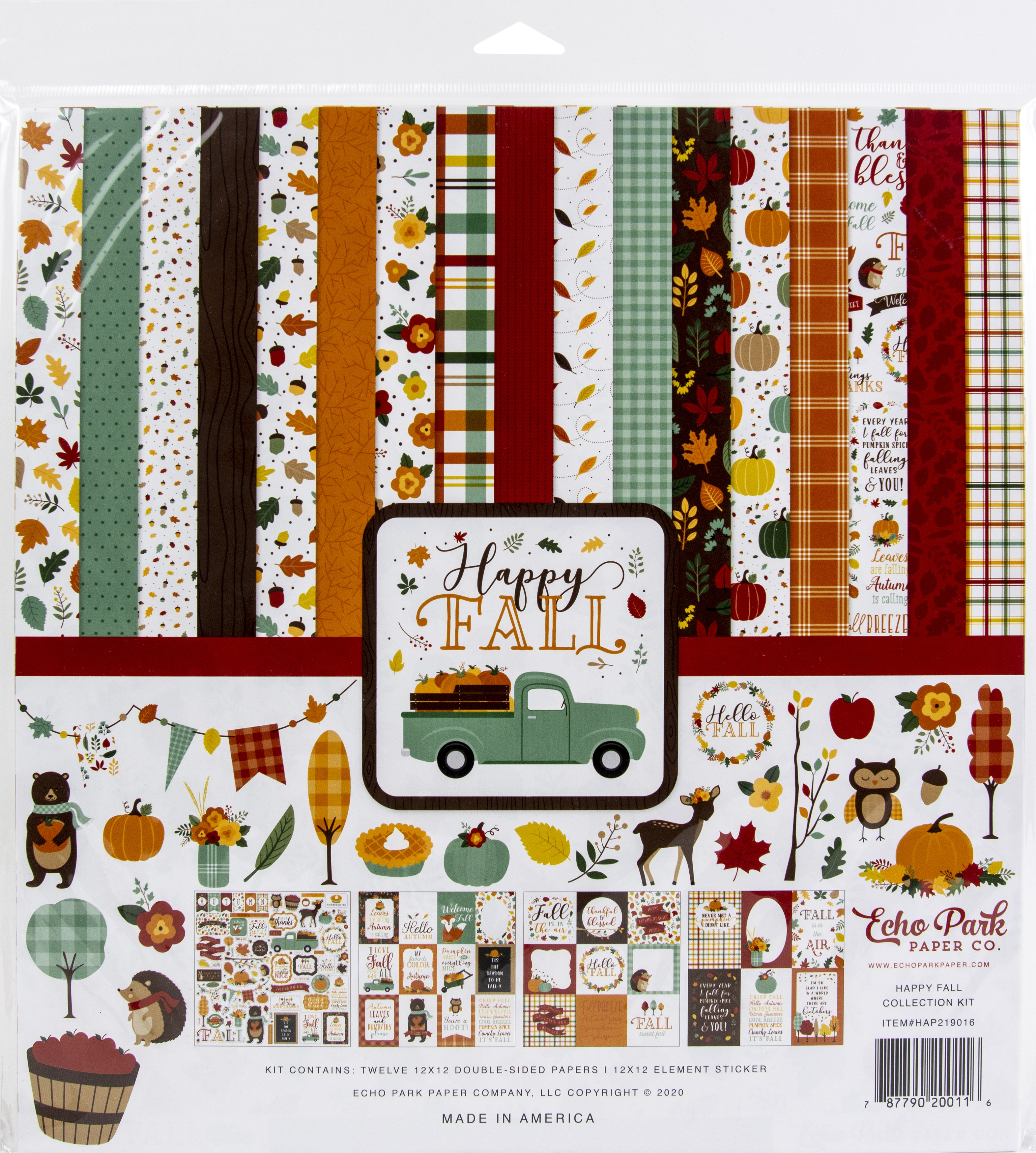 Echo Park Collection Kit 12X12-Happy Fall