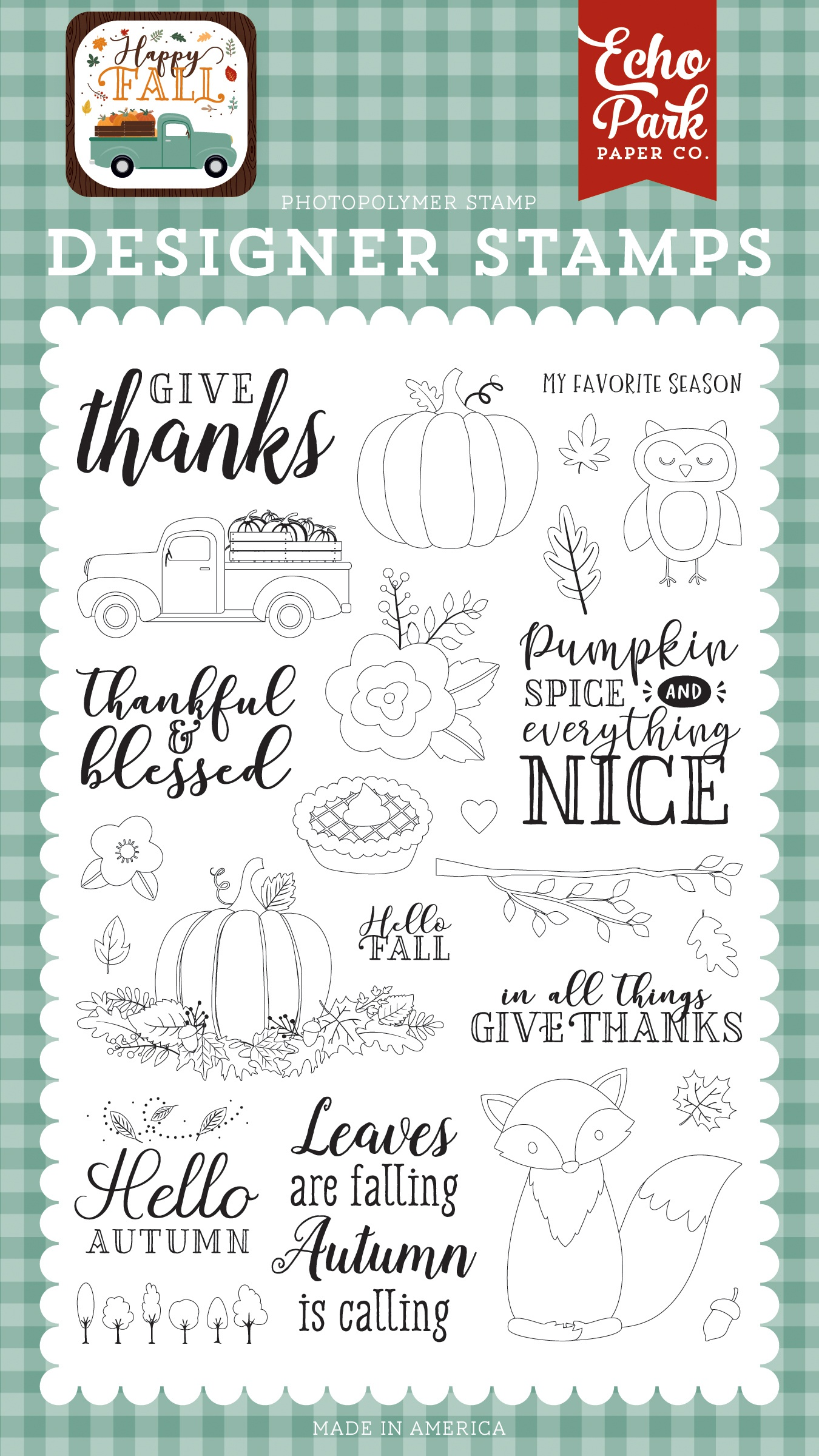 Happy Fall Give Thanks Stamp Set