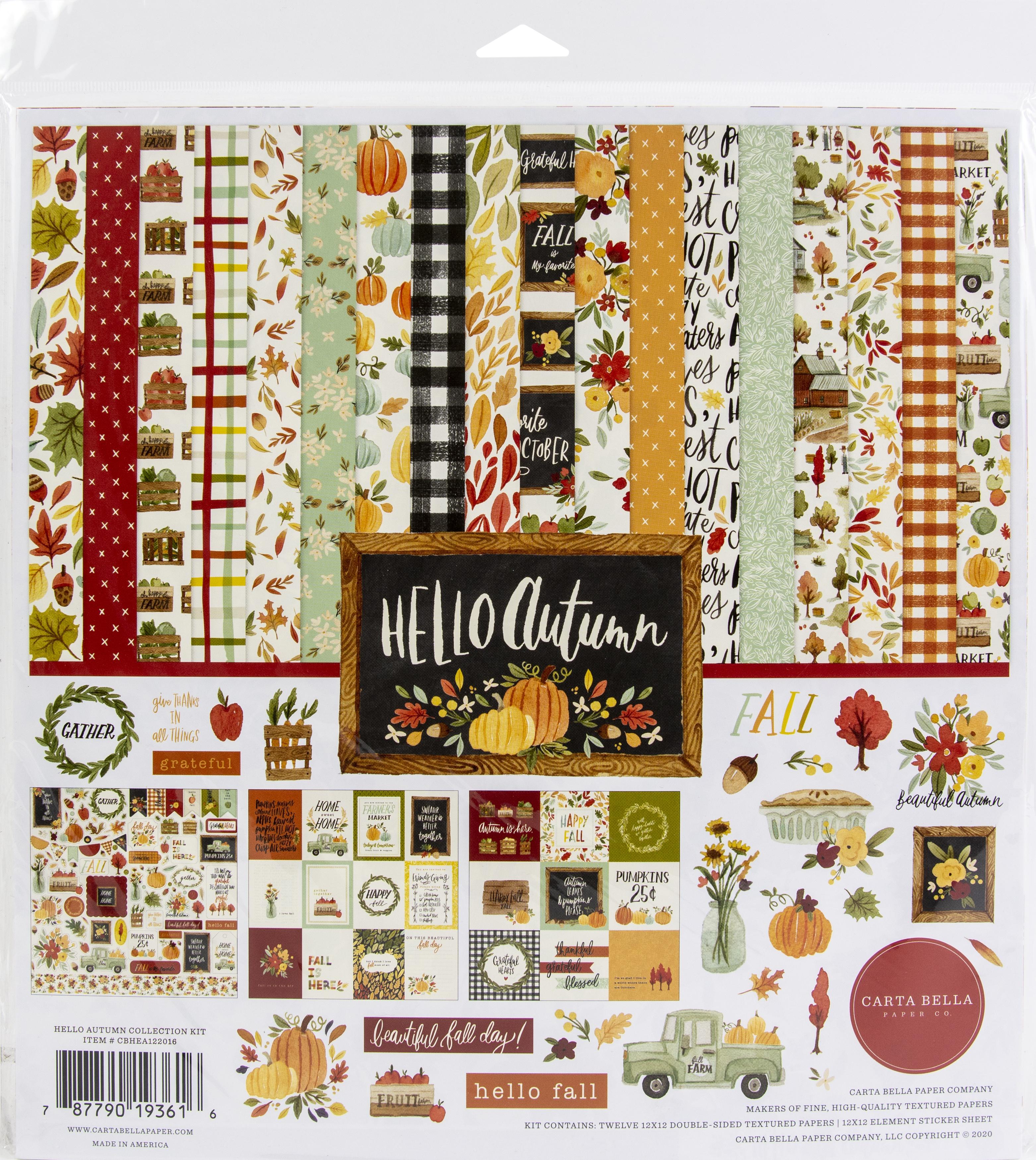 Carta Bella Collection Kit 12X12-Hello Autumn