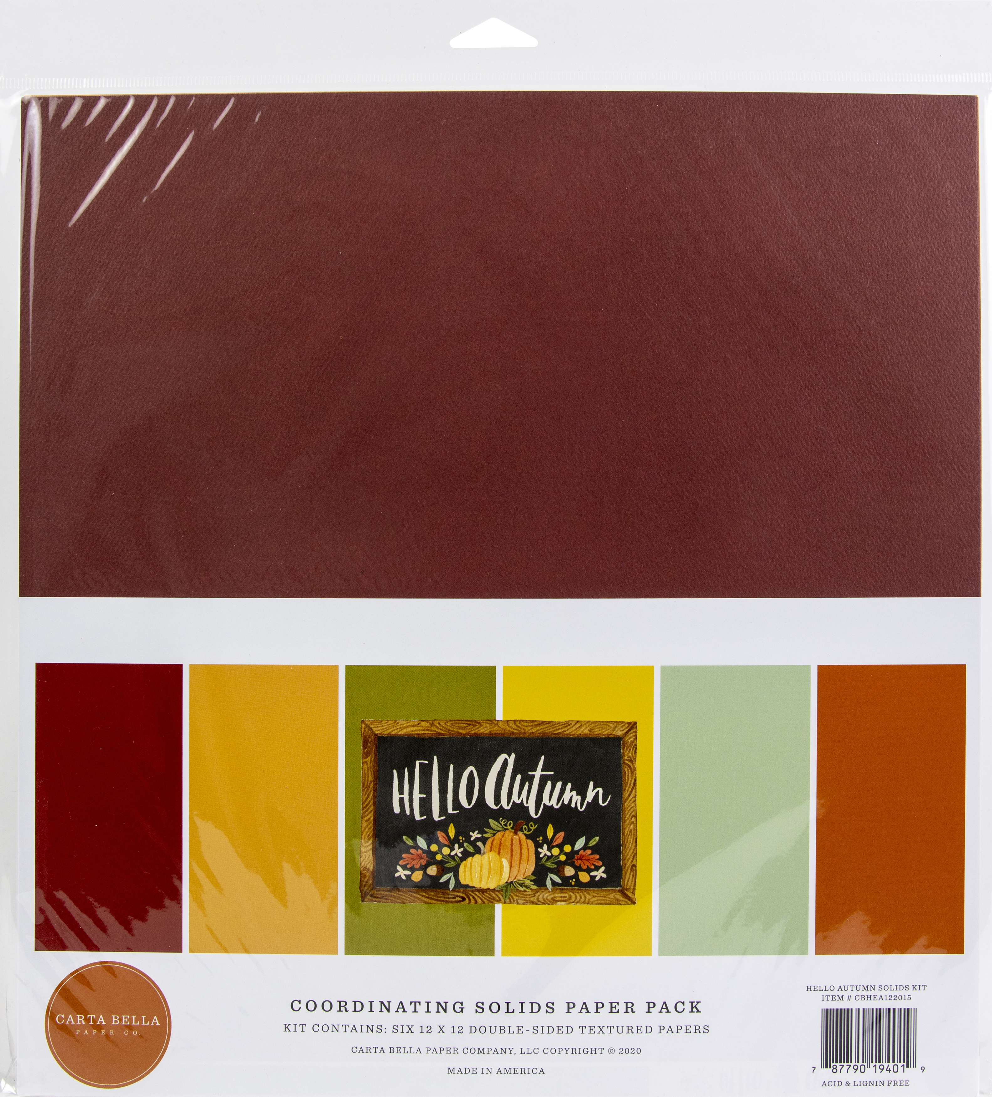 Hello Autumn Solid Cardstock Pack
