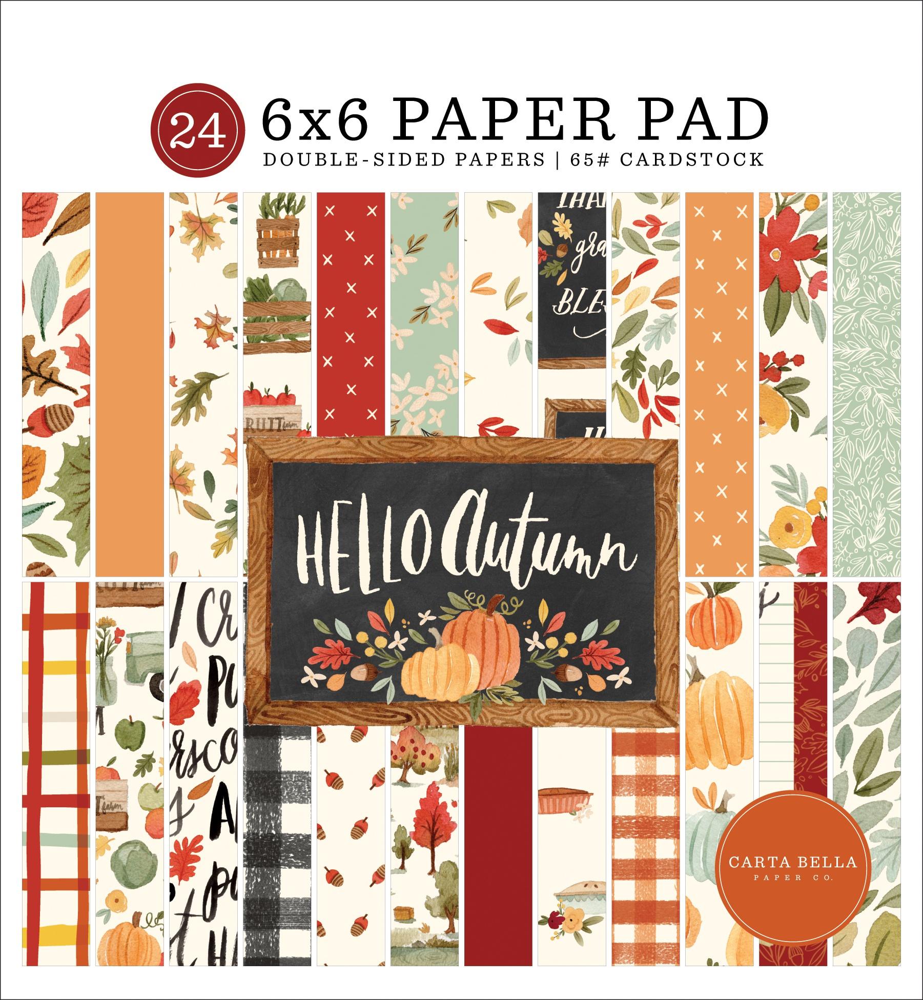 Hello Autumn 6x6 pad
