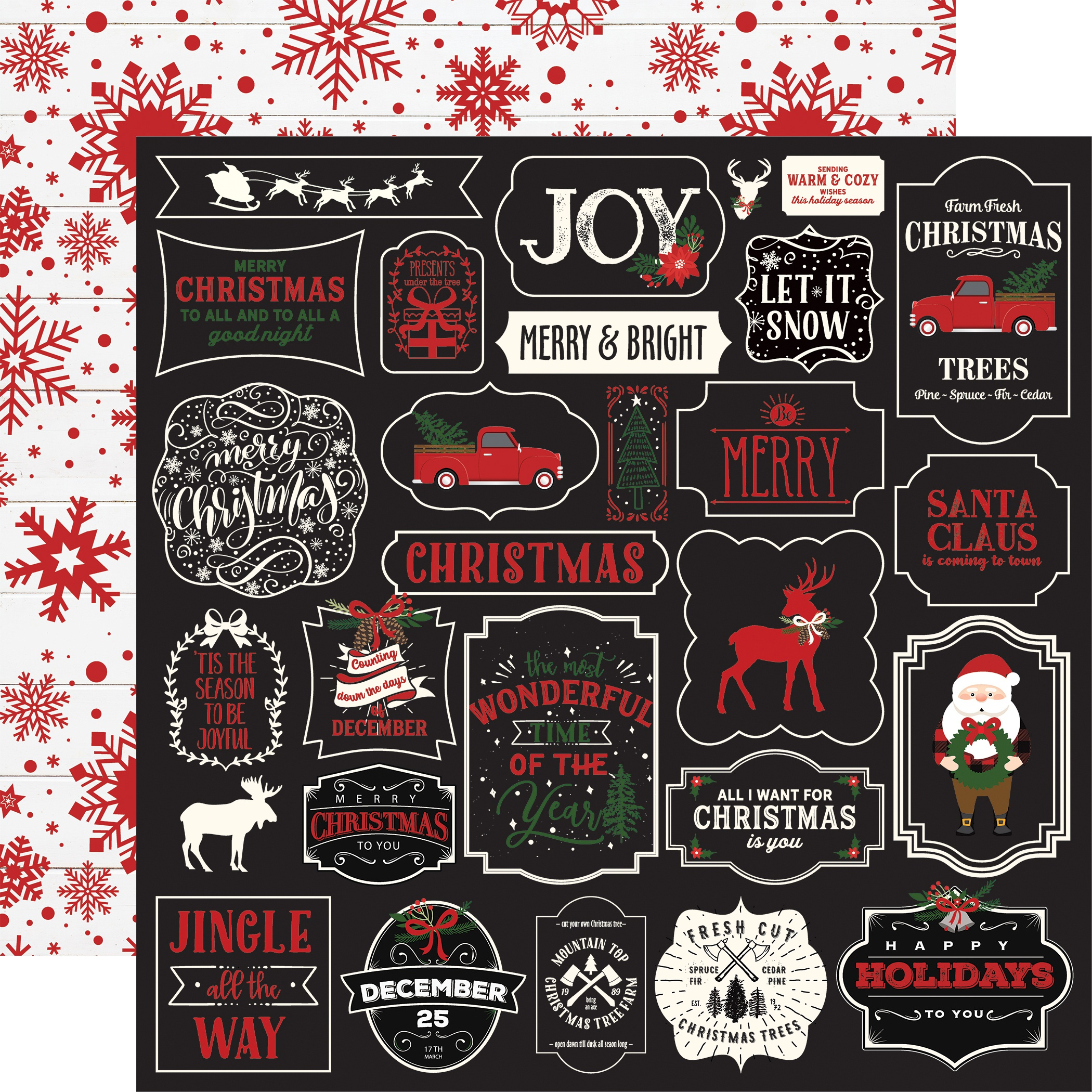 A Lumberjack Christmas Double-Sided Cardstock 12X12-Jingle All The Way