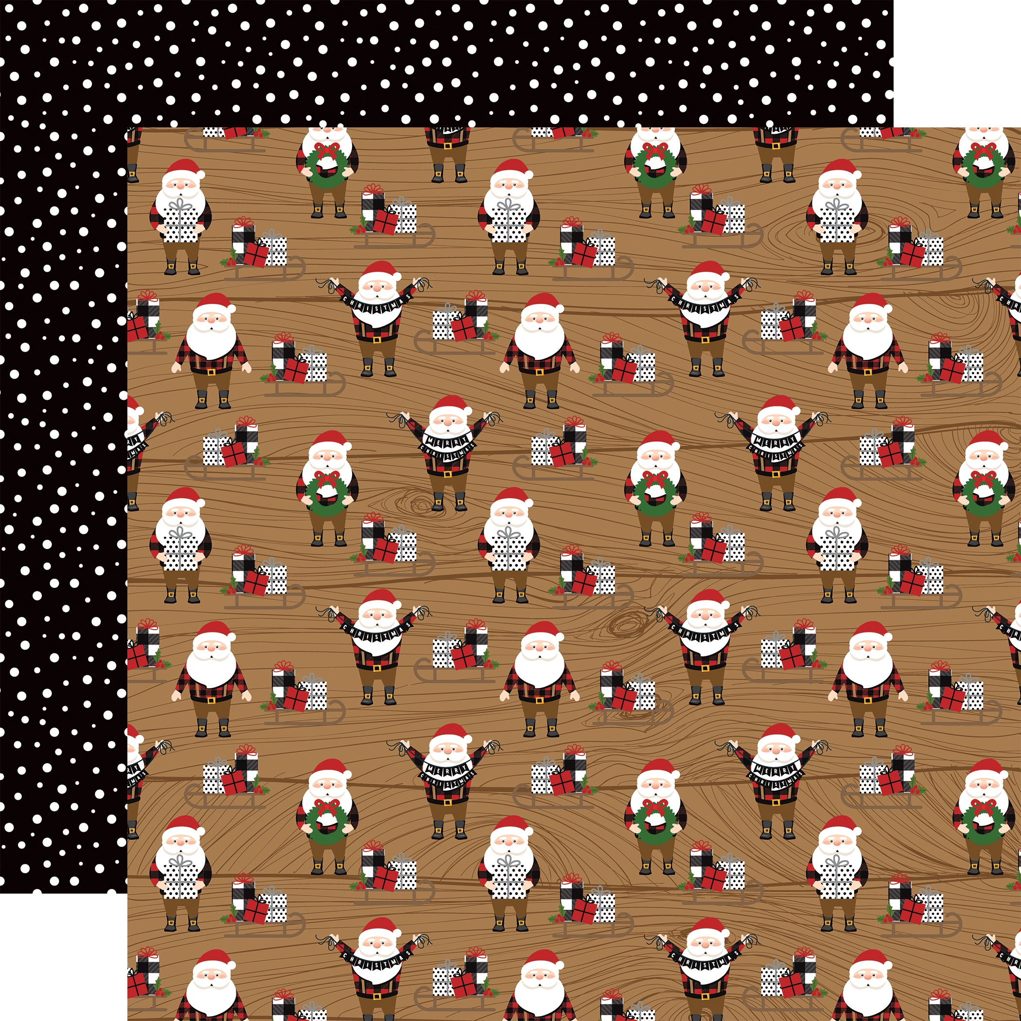 A Lumberjack Christmas Double-Sided Cardstock 12X12