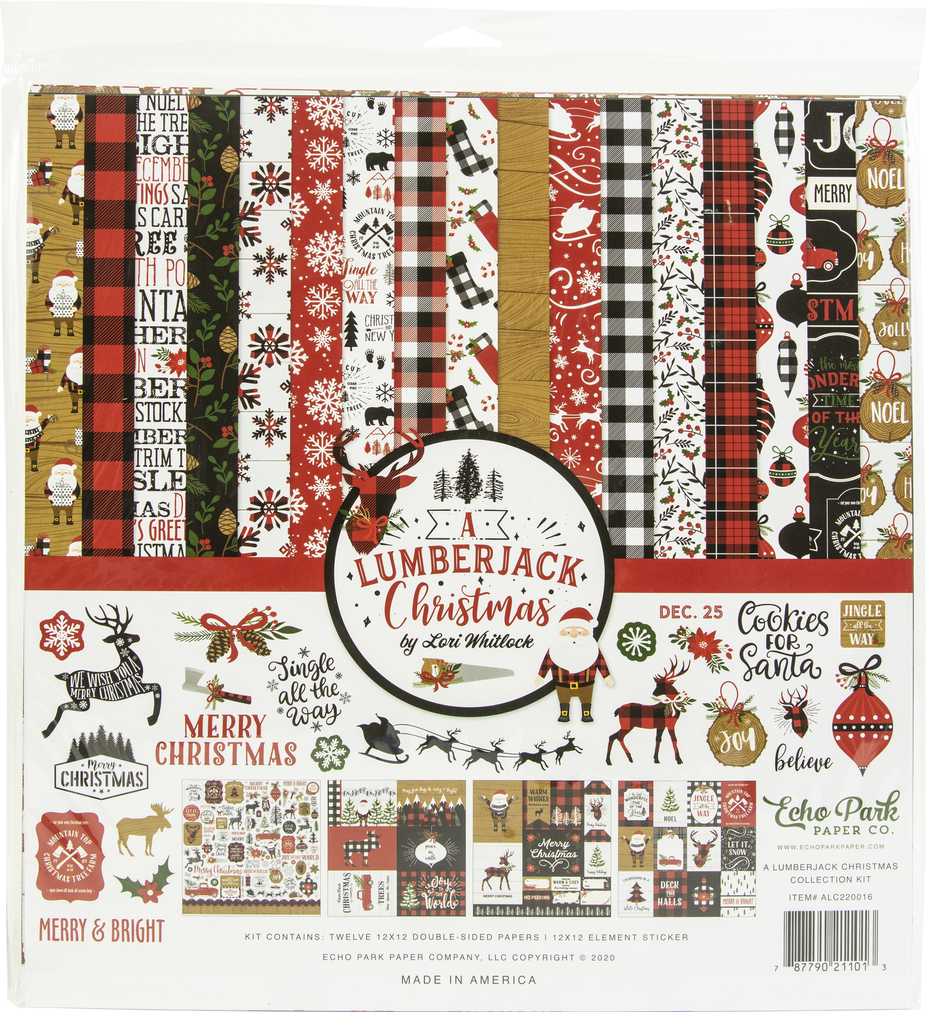 Echo Park Collection Kit 12X12-A Lumberjack Christmas