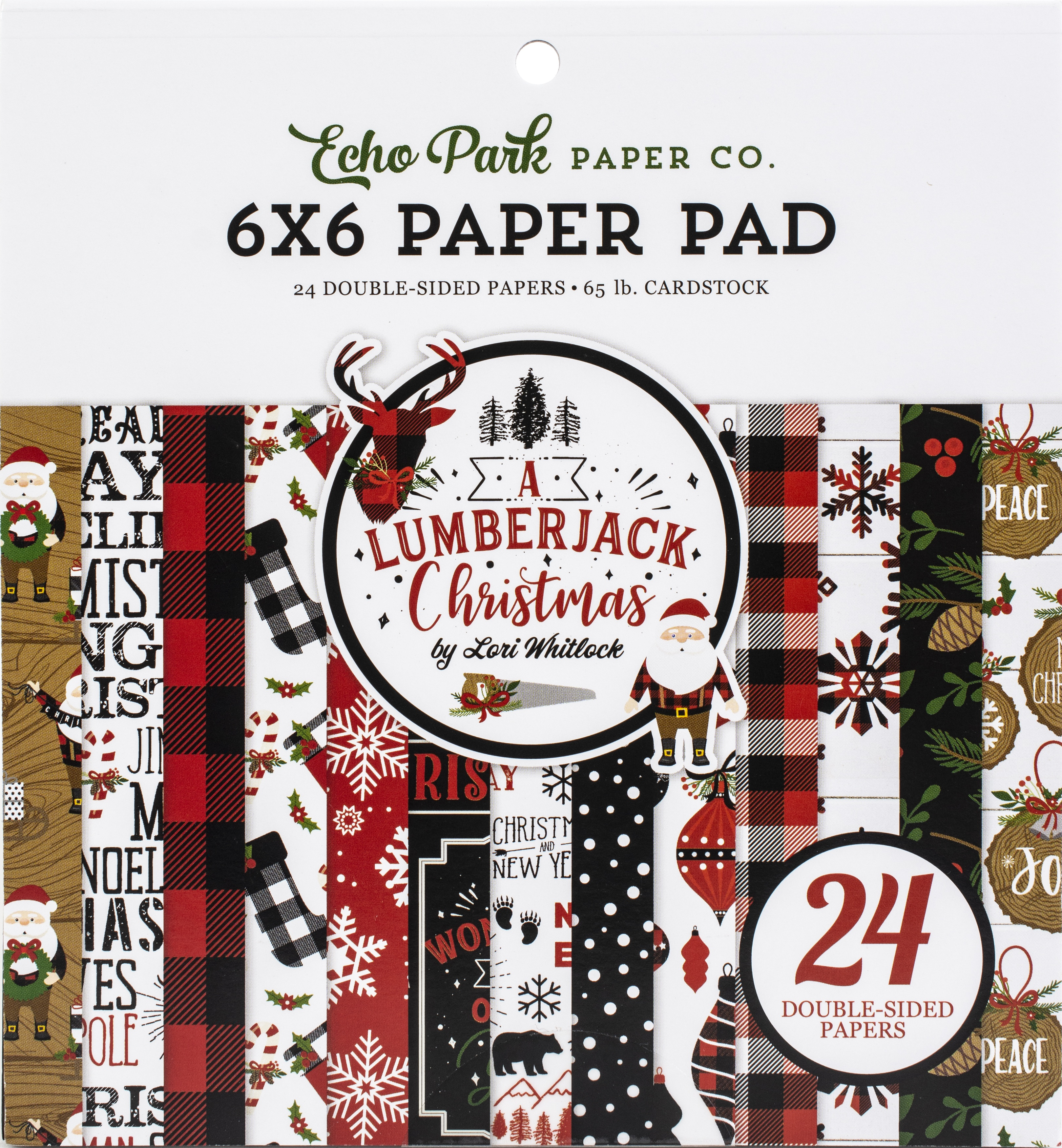 Echo Park - 6X6 A Lumberjack Christmas Paper Pad (double-sided)