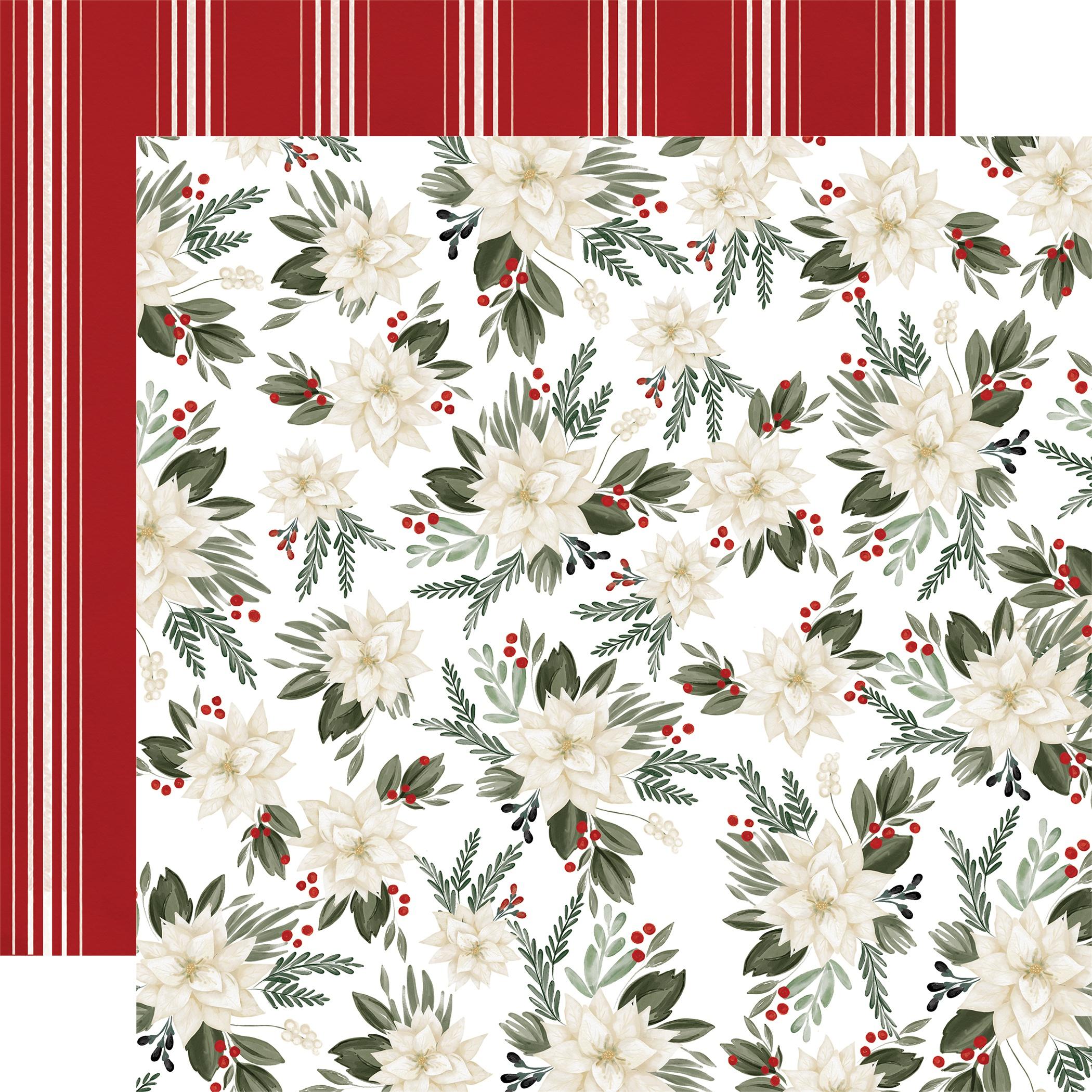 Carta Bella Farmhouse Christmas - Poinsettia Floral