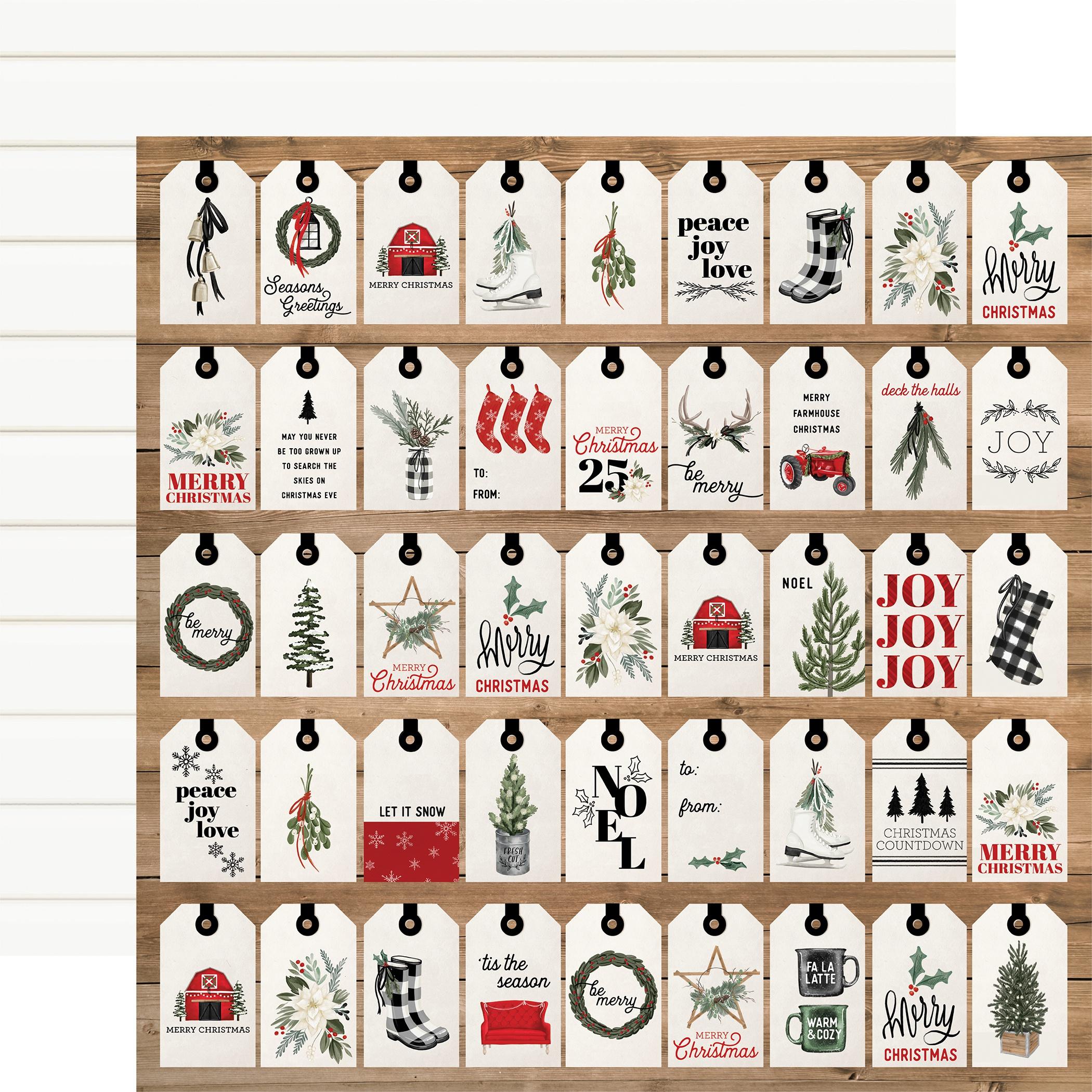 Carta Bella Farmhouse Christmas - Gift Tags