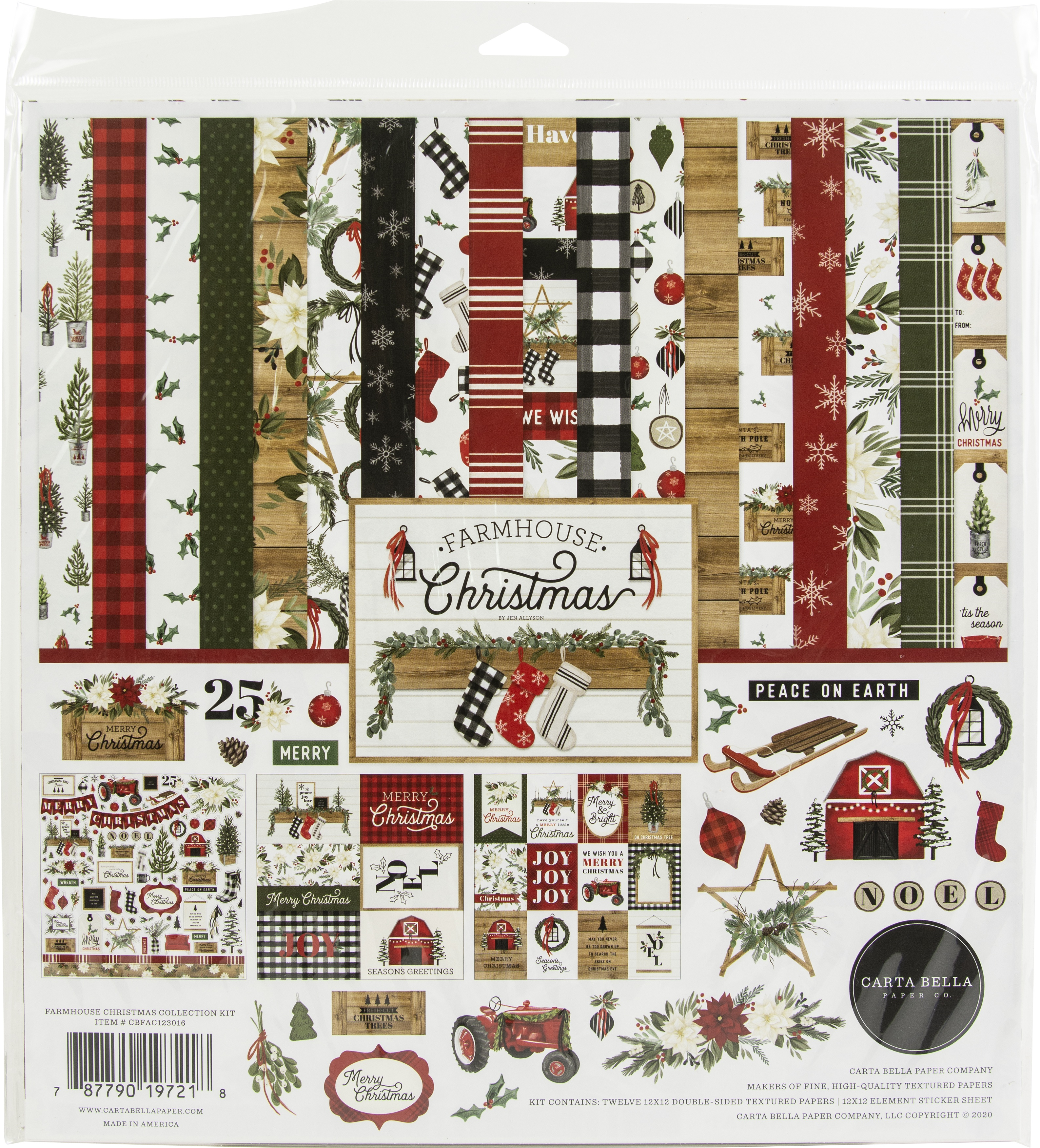 Carta Bella Collection Kit 12X12-Farmhouse Christmas