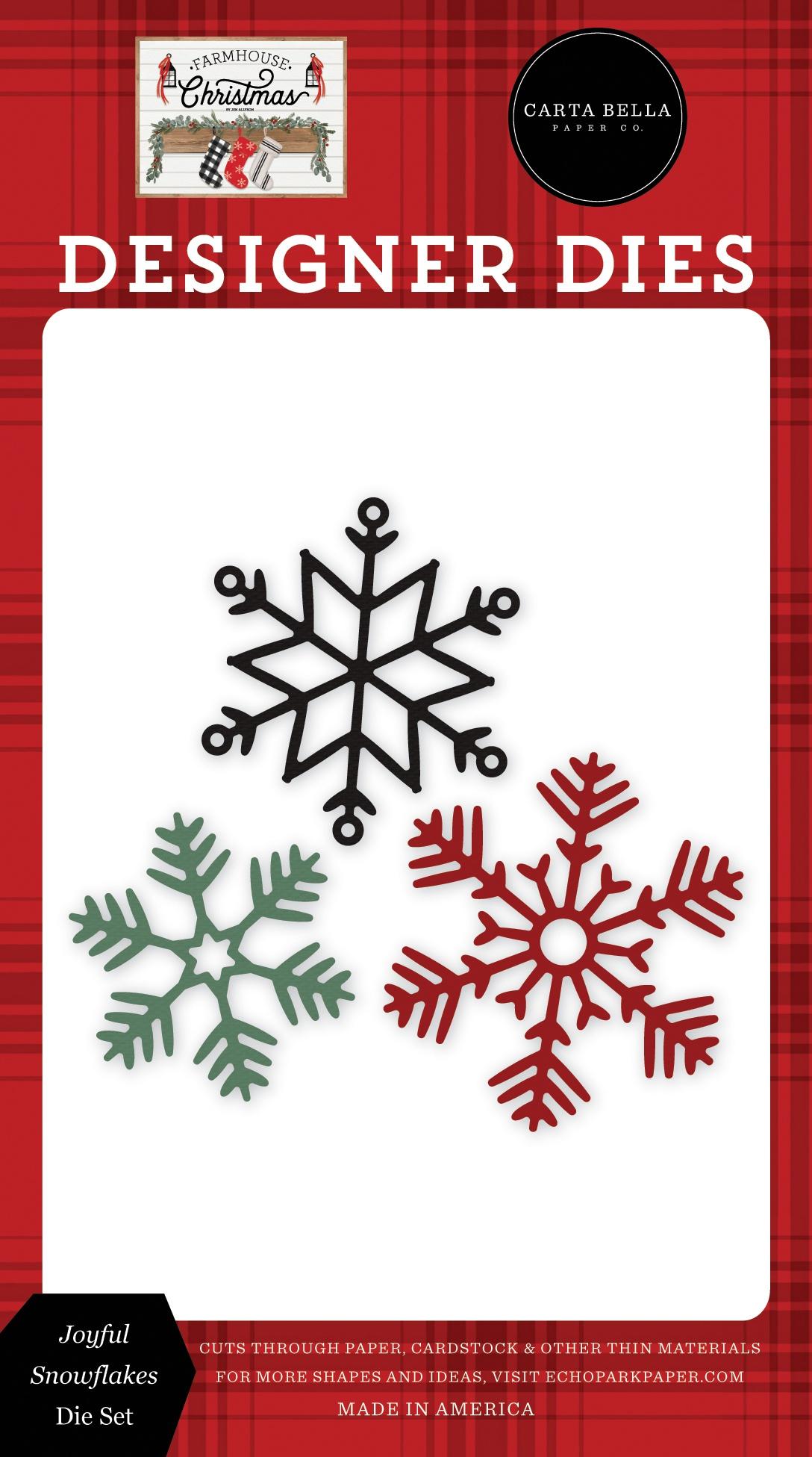 Carte Bella Dies-Joyful Snowflakes