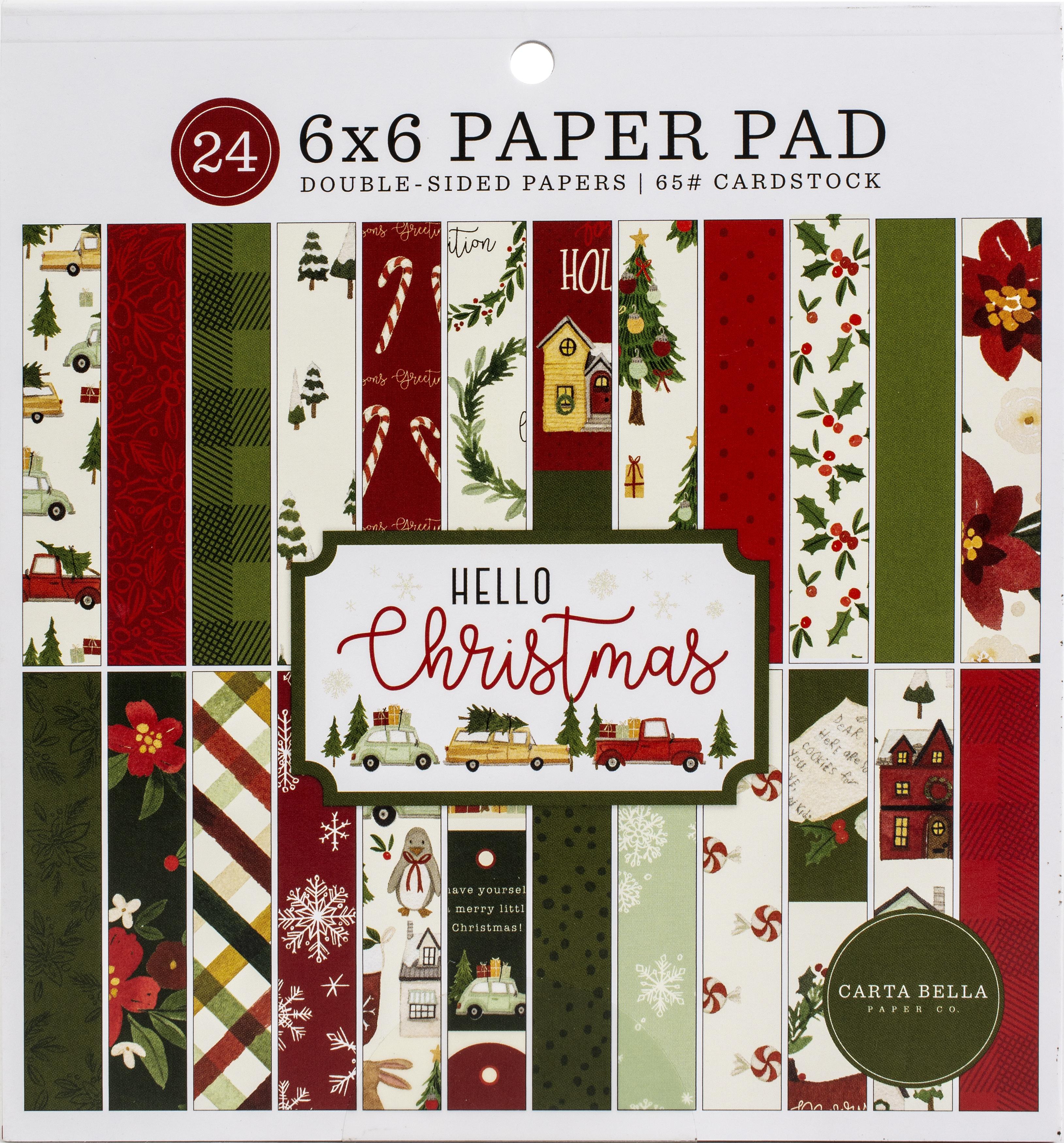 Carta Bella Double-Sided Paper Pad 6X6 24/Pkg-Hello Christmas, 12 Designs/2 Ea...
