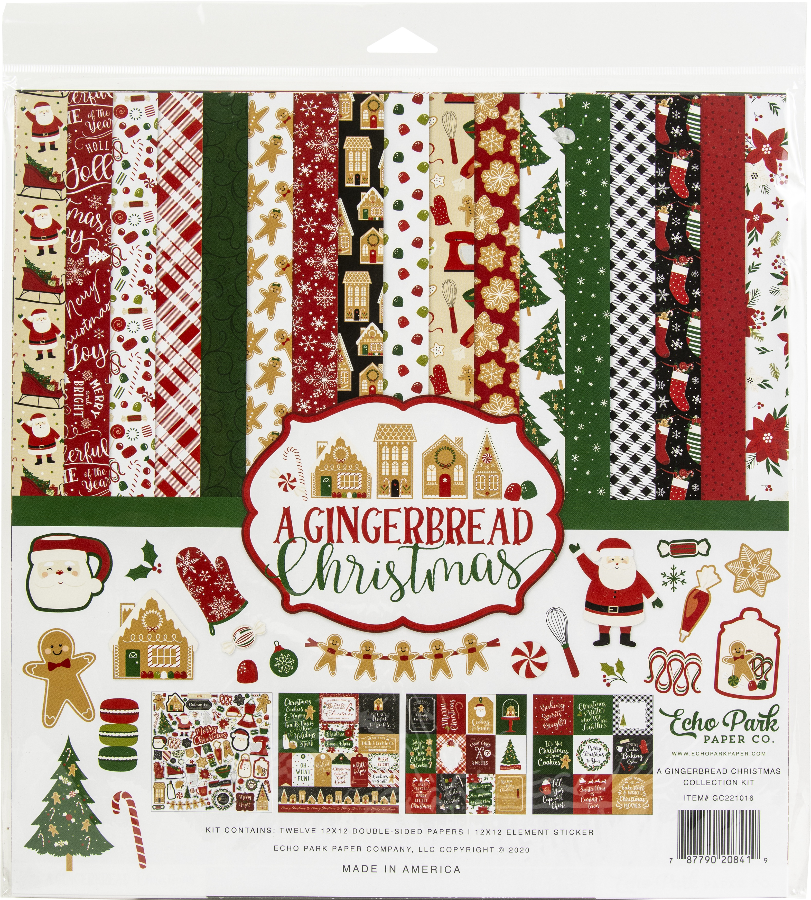 Echo Park Collection Kit 12X12-A Gingerbread Christmas