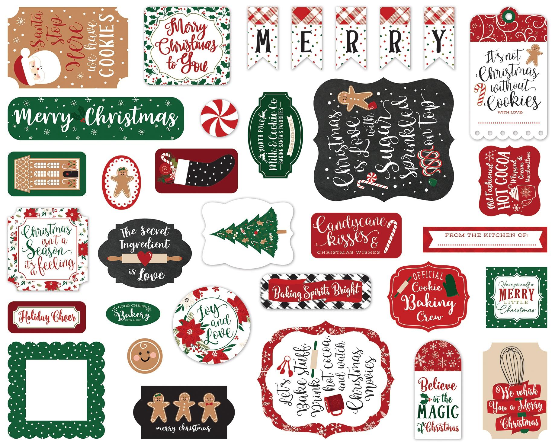 A Gingerbread Christmas- Cardstock Ephemera 33/Pkg