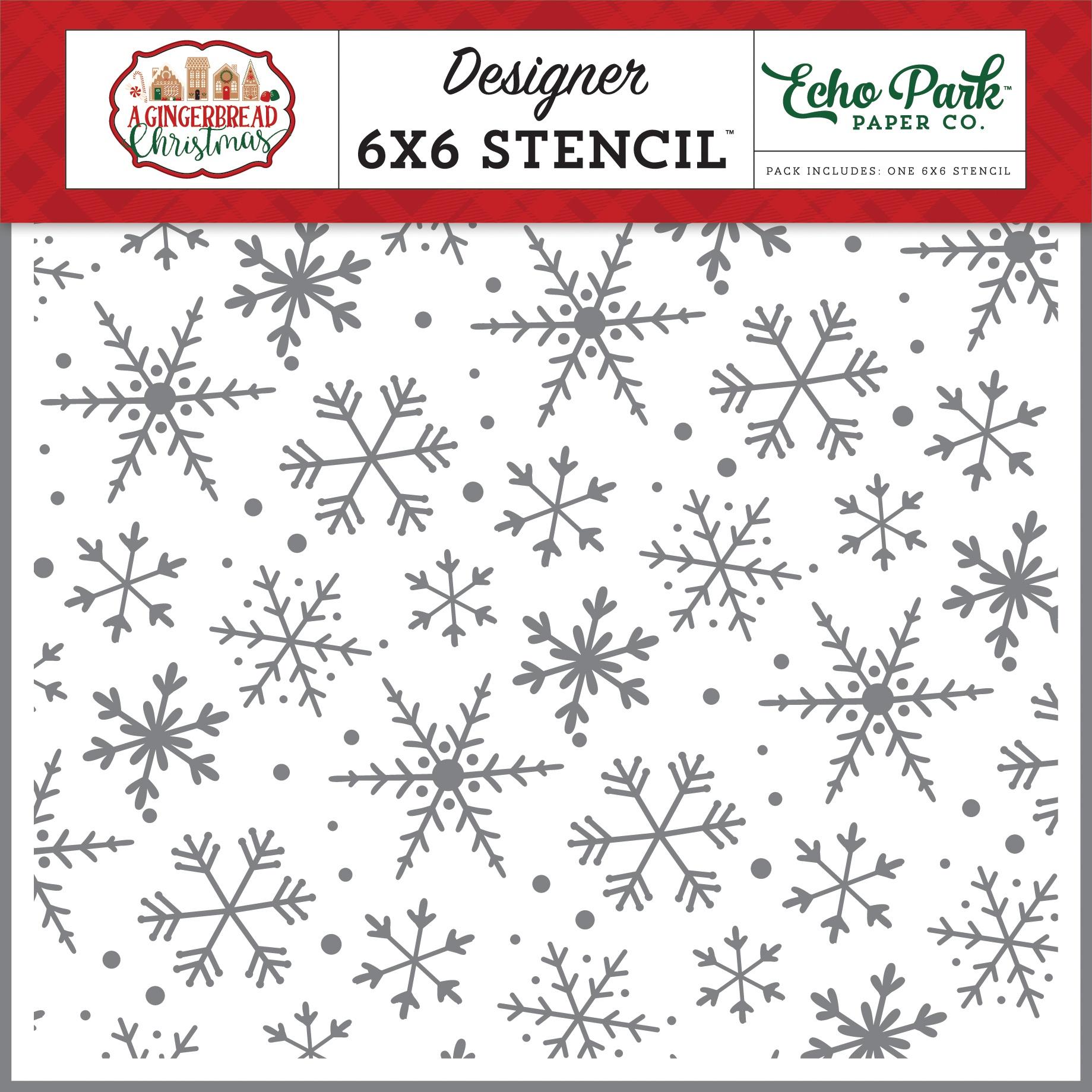 Echo Park Stencil 6X6-Magical Snowflakes